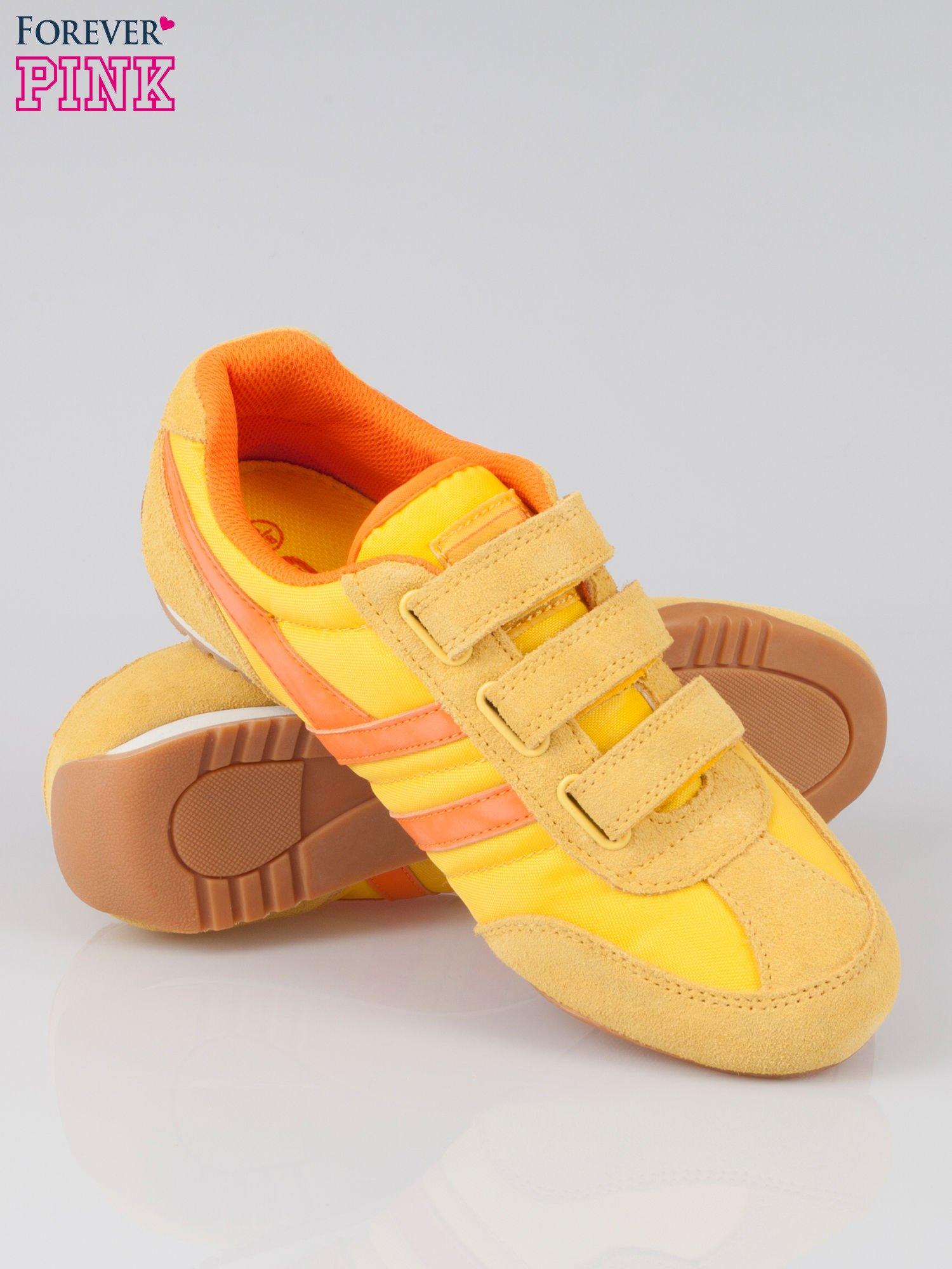 Pomarańczowe buty sportwe textile Sunrise na rzepy                                  zdj.                                  4