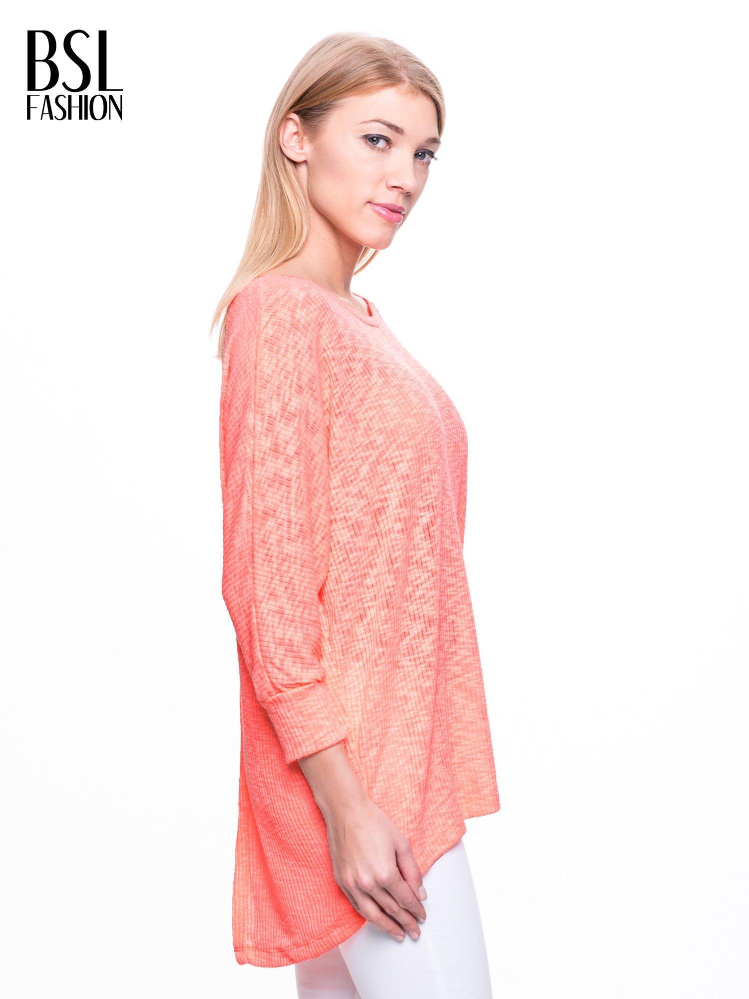 Pomarańczowy sweter z rozcięciem na plecach                                  zdj.                                  3