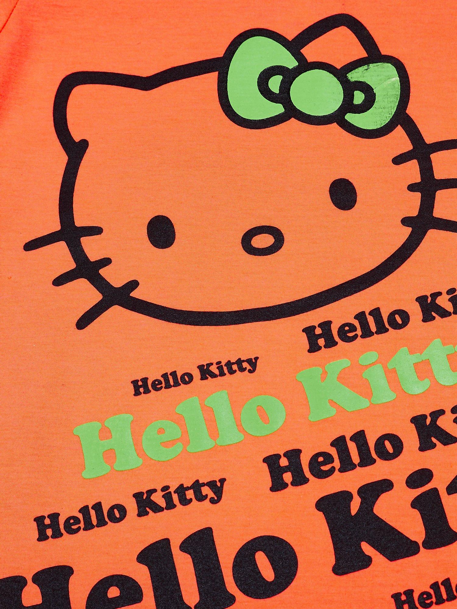 Pomarańczowy t-shirt dla dziewczynki HELLO KITTY                                  zdj.                                  4