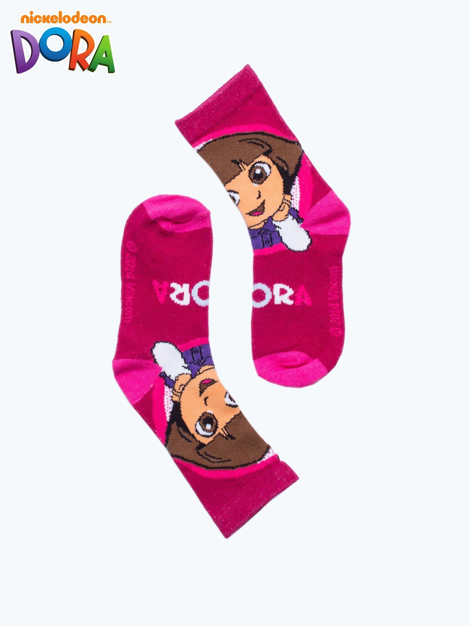 Purpurowe skarpetki dla dziewczynki DORA                                  zdj.                                  2