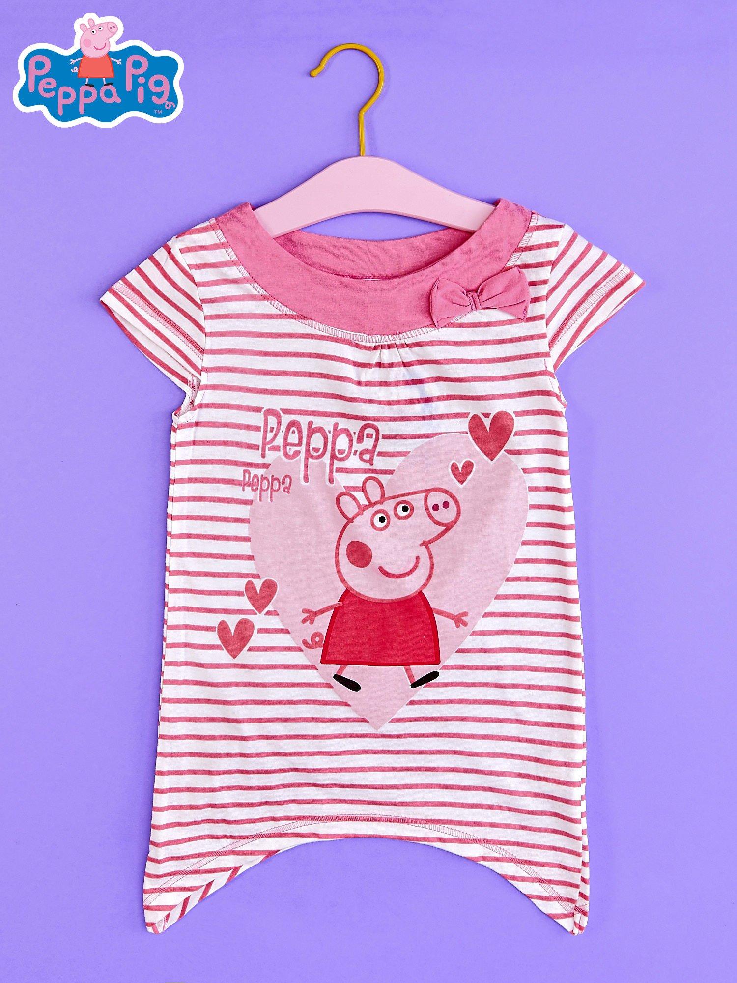 Różowa asymetryczna tunika dla dziewczynki ŚWINKA PEPPA                                  zdj.                                  1
