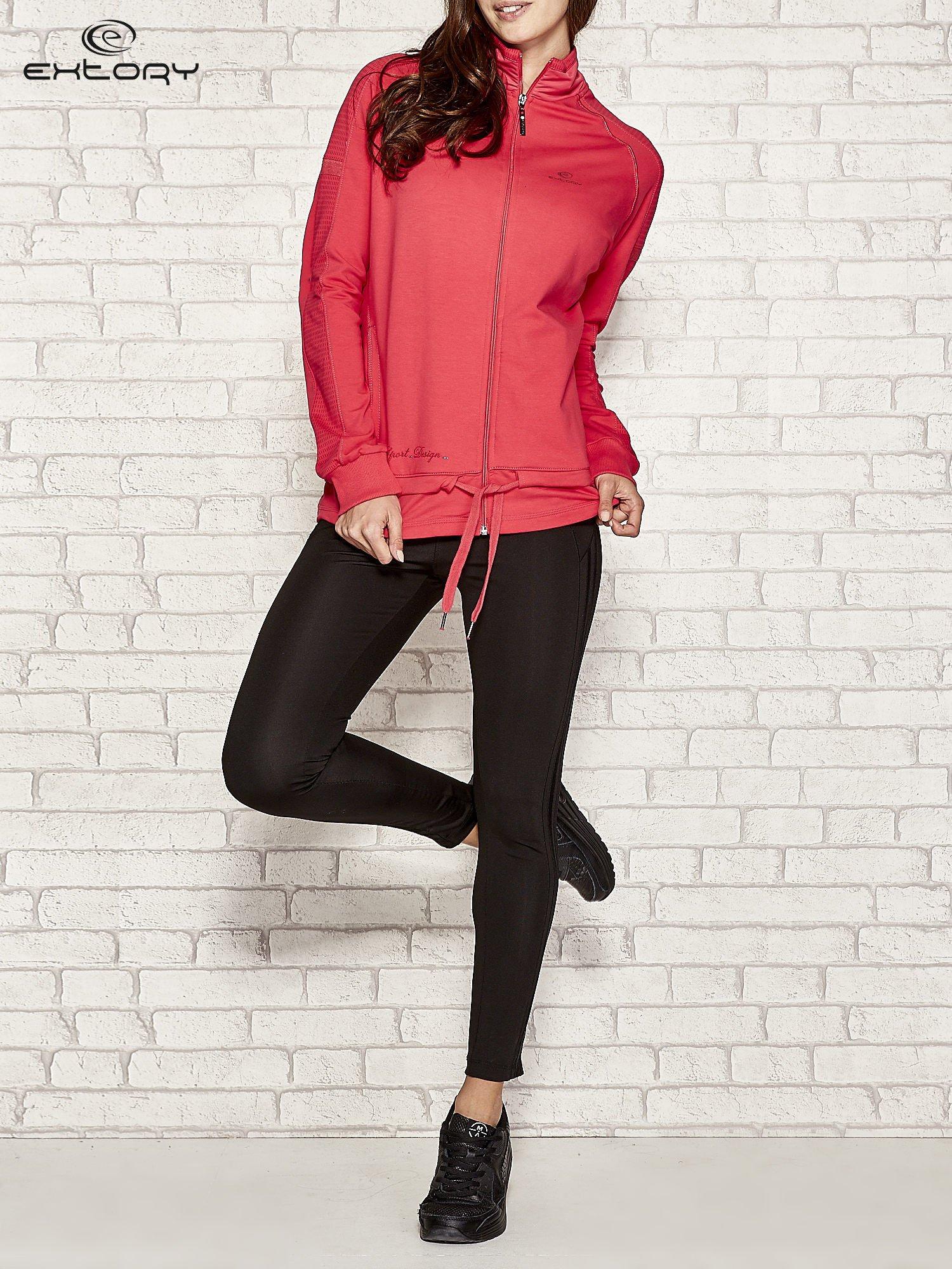 Różowa bluza sportowa fitness z wiązaniem                                  zdj.                                  3