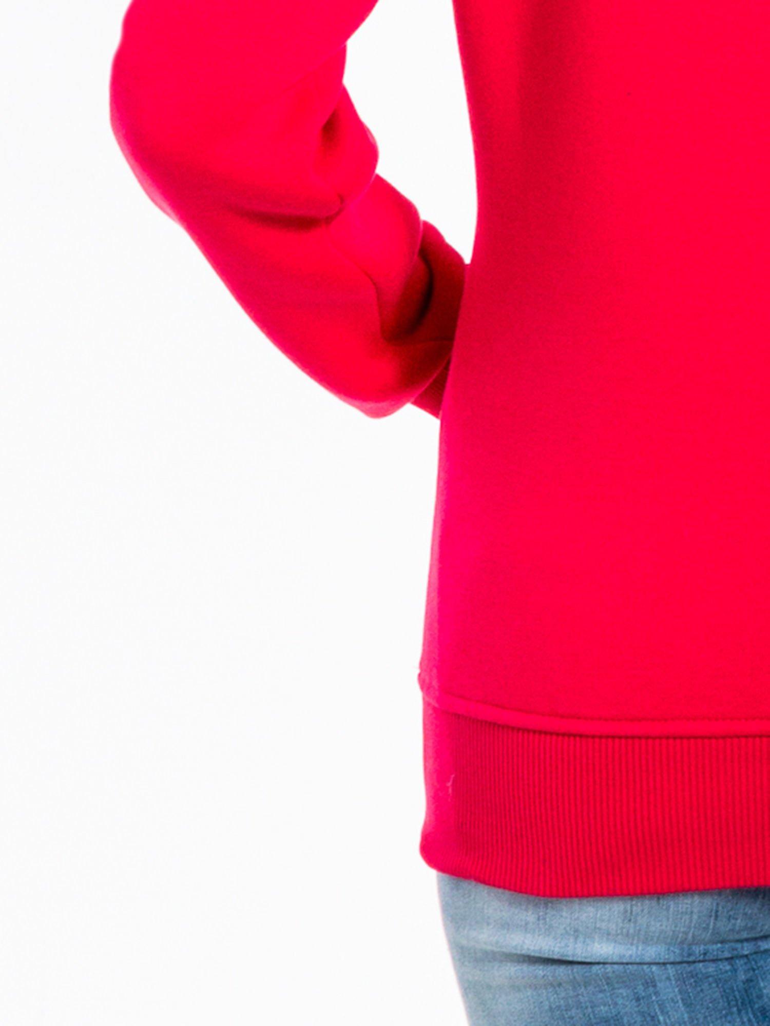 Różowa bluza sportowa z kapturem i dżetami                                  zdj.                                  7