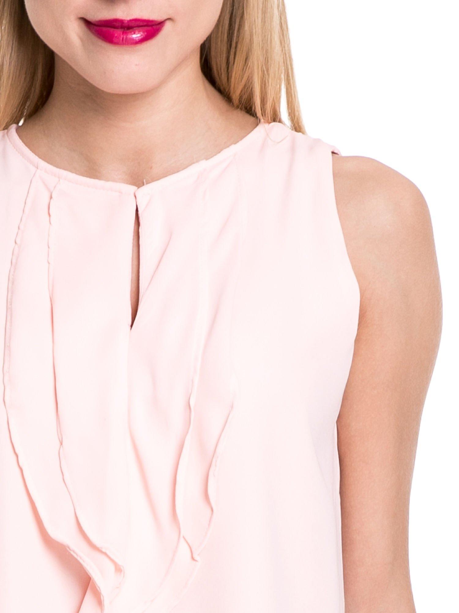 Różowa elegancka koszula z żabotem                                  zdj.                                  5
