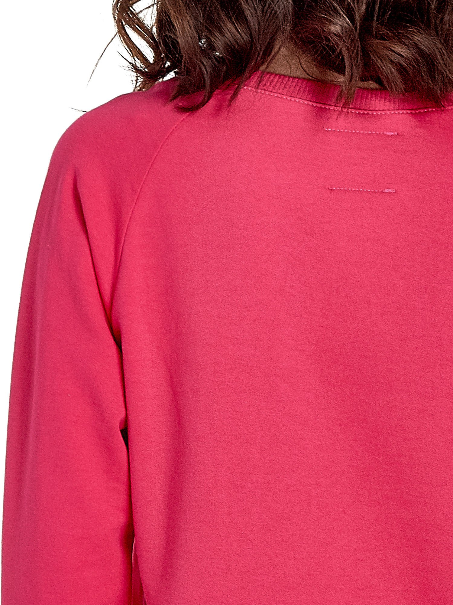 Różowa klasyczna damska bluza z napisem LOVE IS EVERYTHING                                  zdj.                                  6