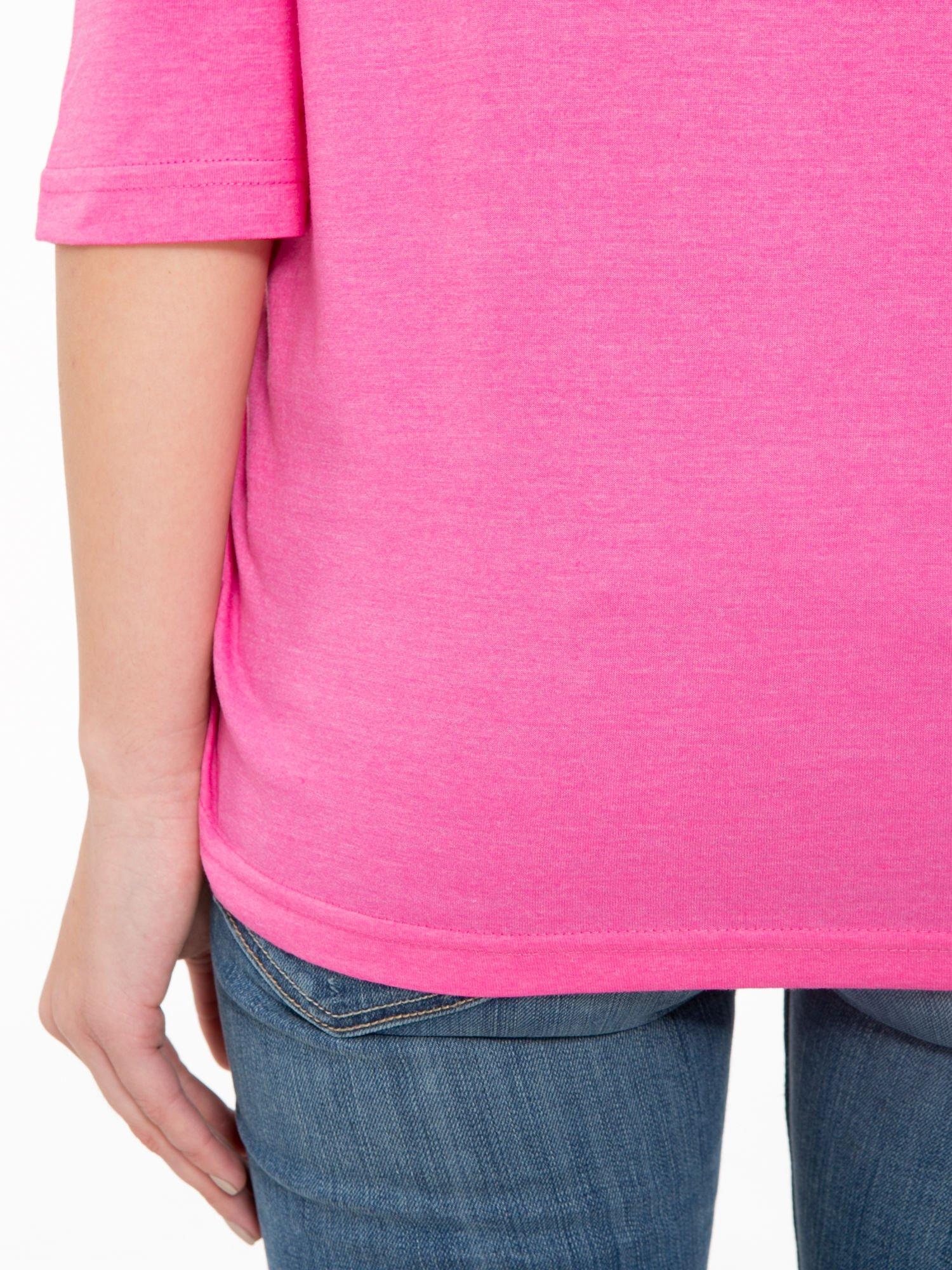 Różowa luźna bluzka z rękawem 3/4                                  zdj.                                  9
