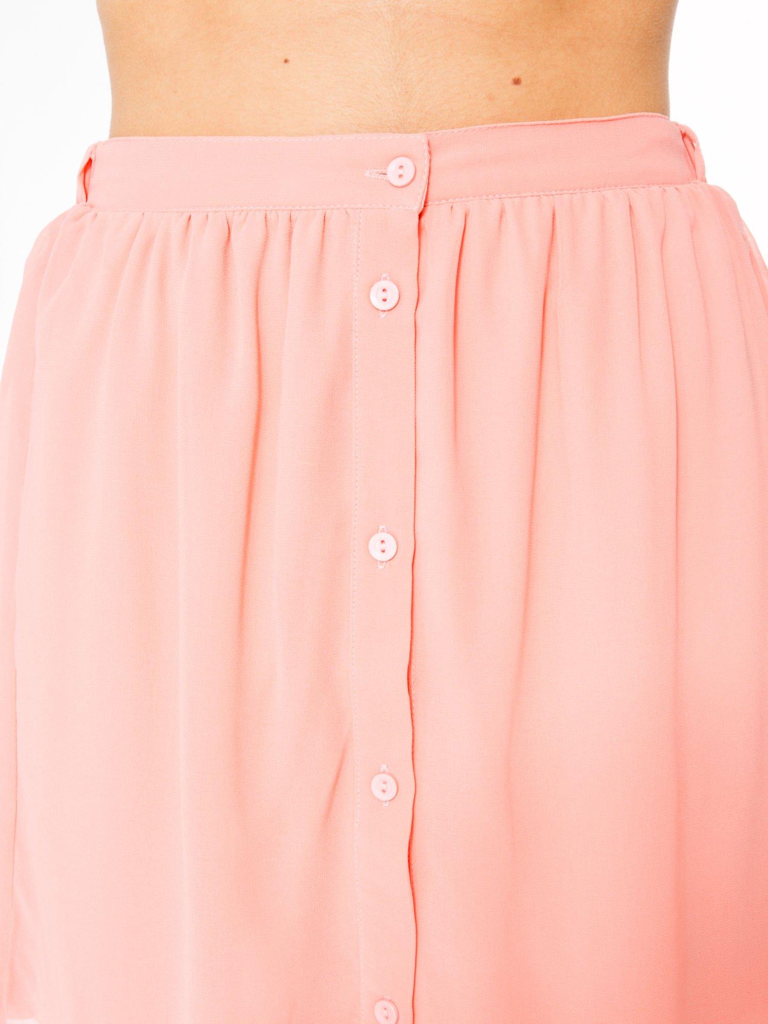 Różowa mini spódnica zapinana z przodu  na rząd guzików                                  zdj.                                  9