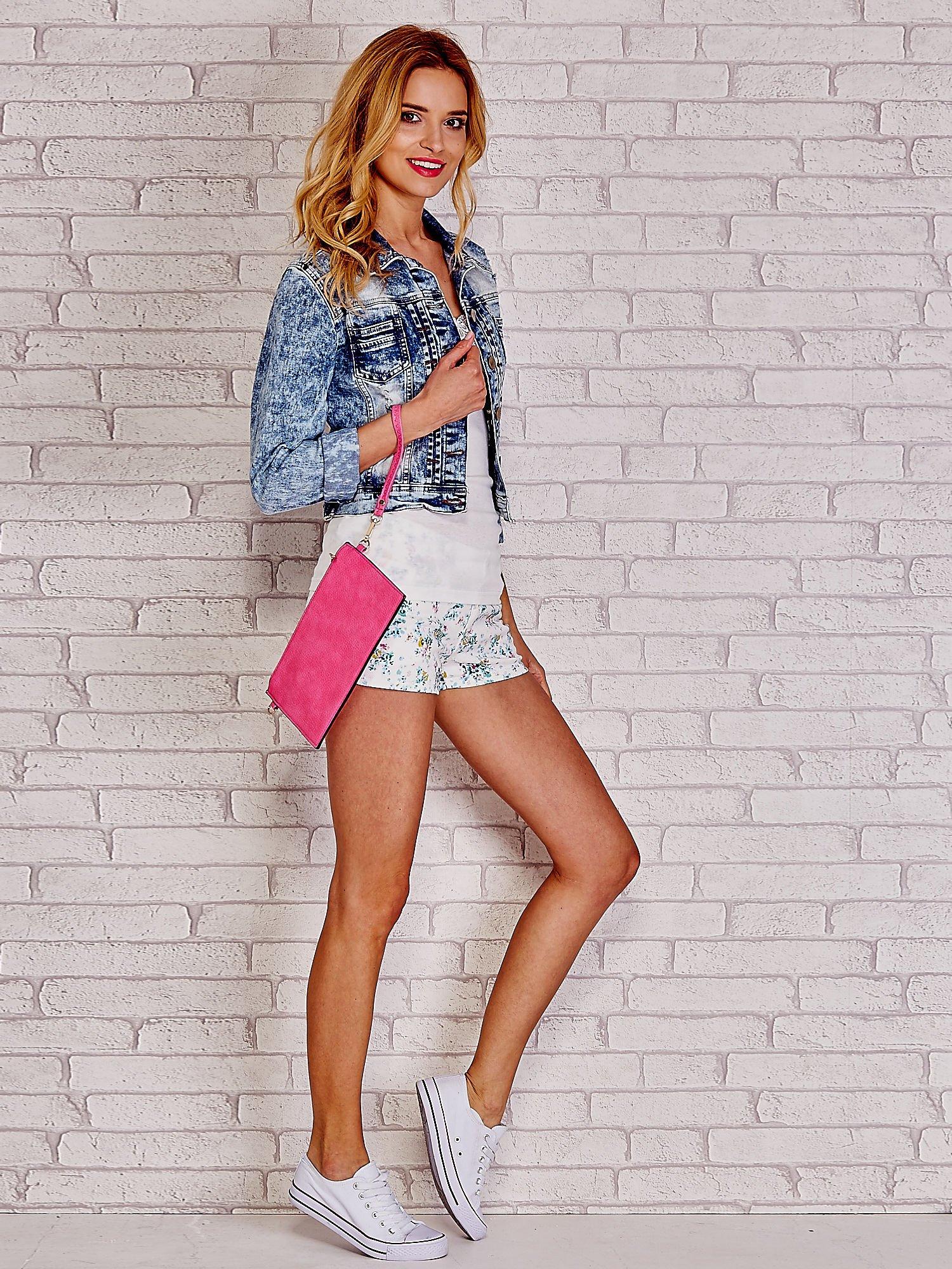 Różowa prosta przewieszana torebka z uchwytem                                  zdj.                                  2