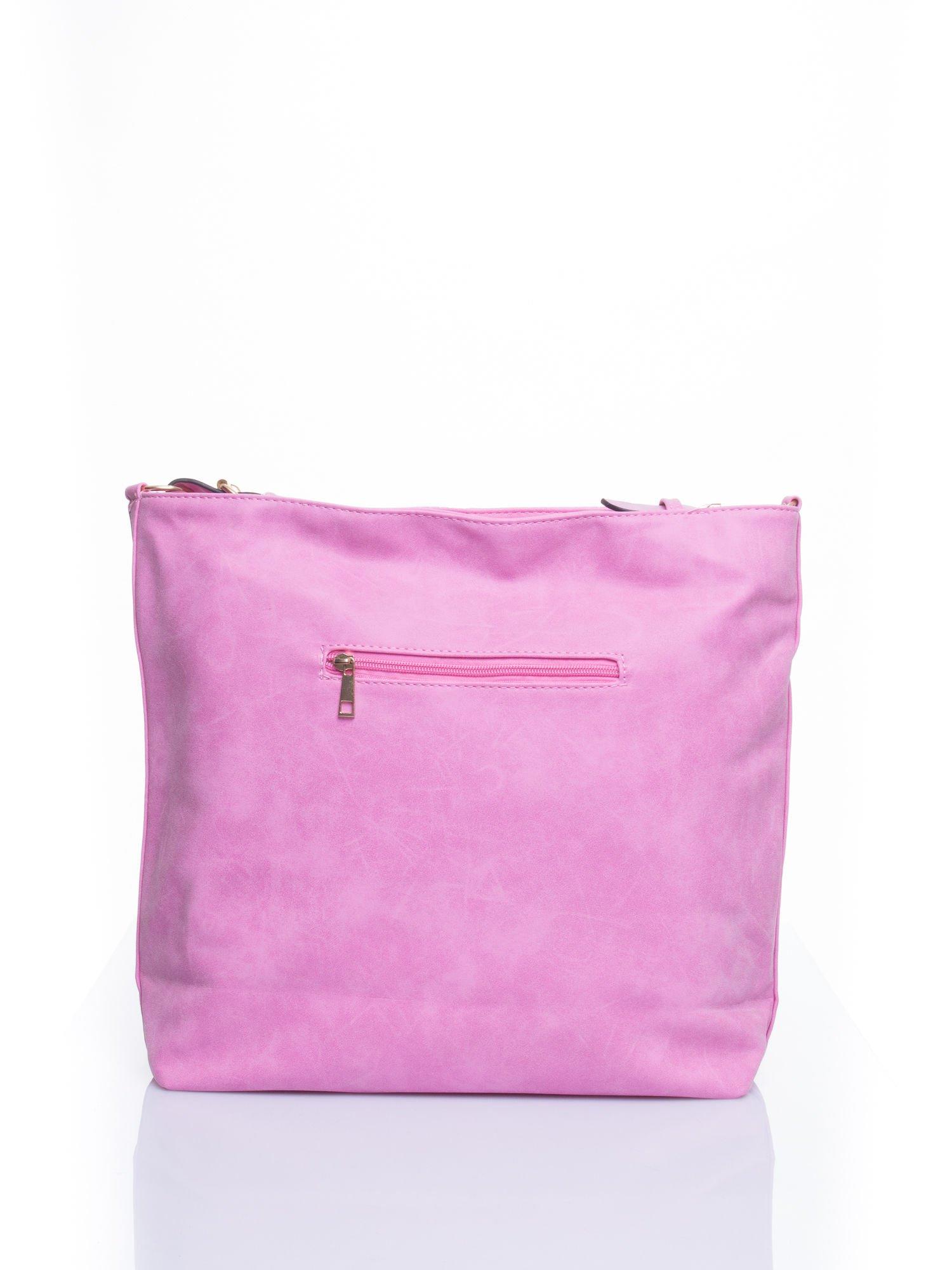 Różowa siateczkowa torba hobo                                  zdj.                                  3