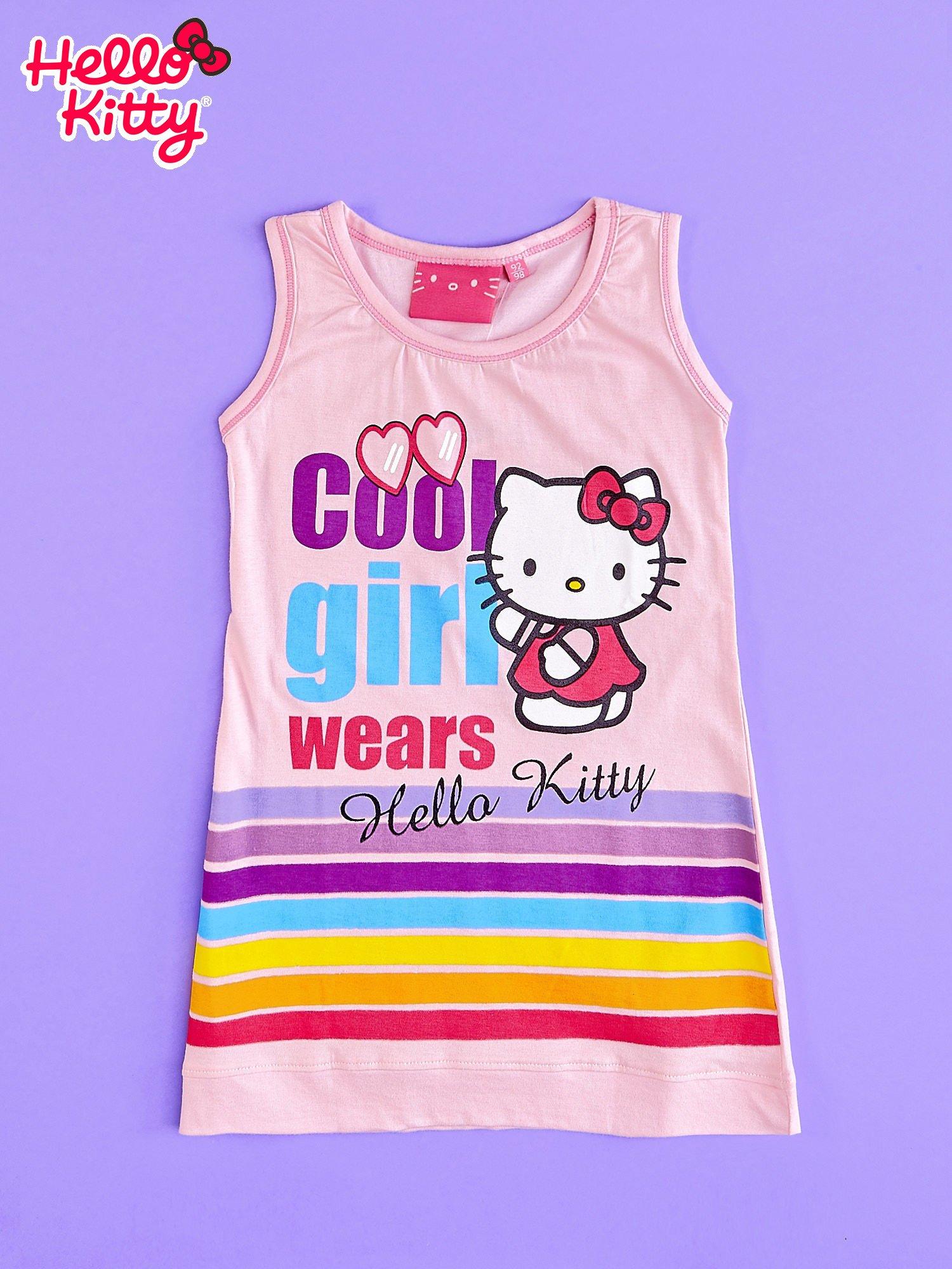 Różowa sukienka bez rękawów dla dziewczynki HELLO KITTY                                  zdj.                                  1
