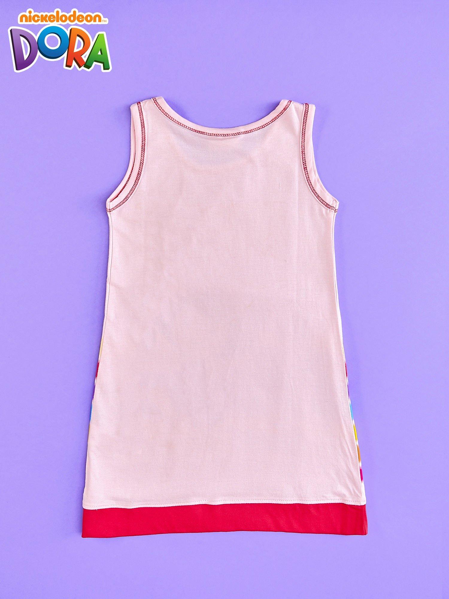 Różowa sukienka dla dziewczynki DORA POZNAJE ŚWIAT                                  zdj.                                  2