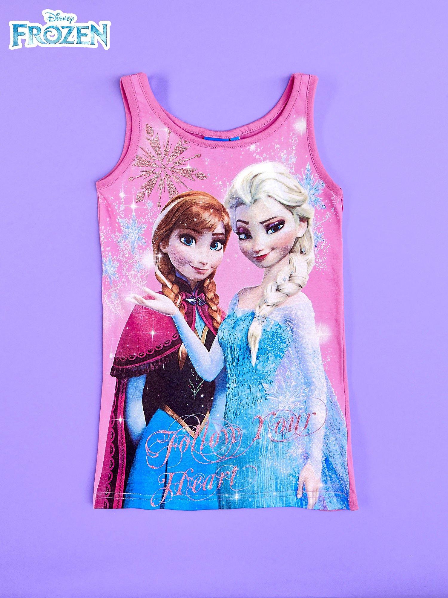 Różowa sukienka dla dziewczynki bez rękawów KRAINA LODU                                  zdj.                                  1