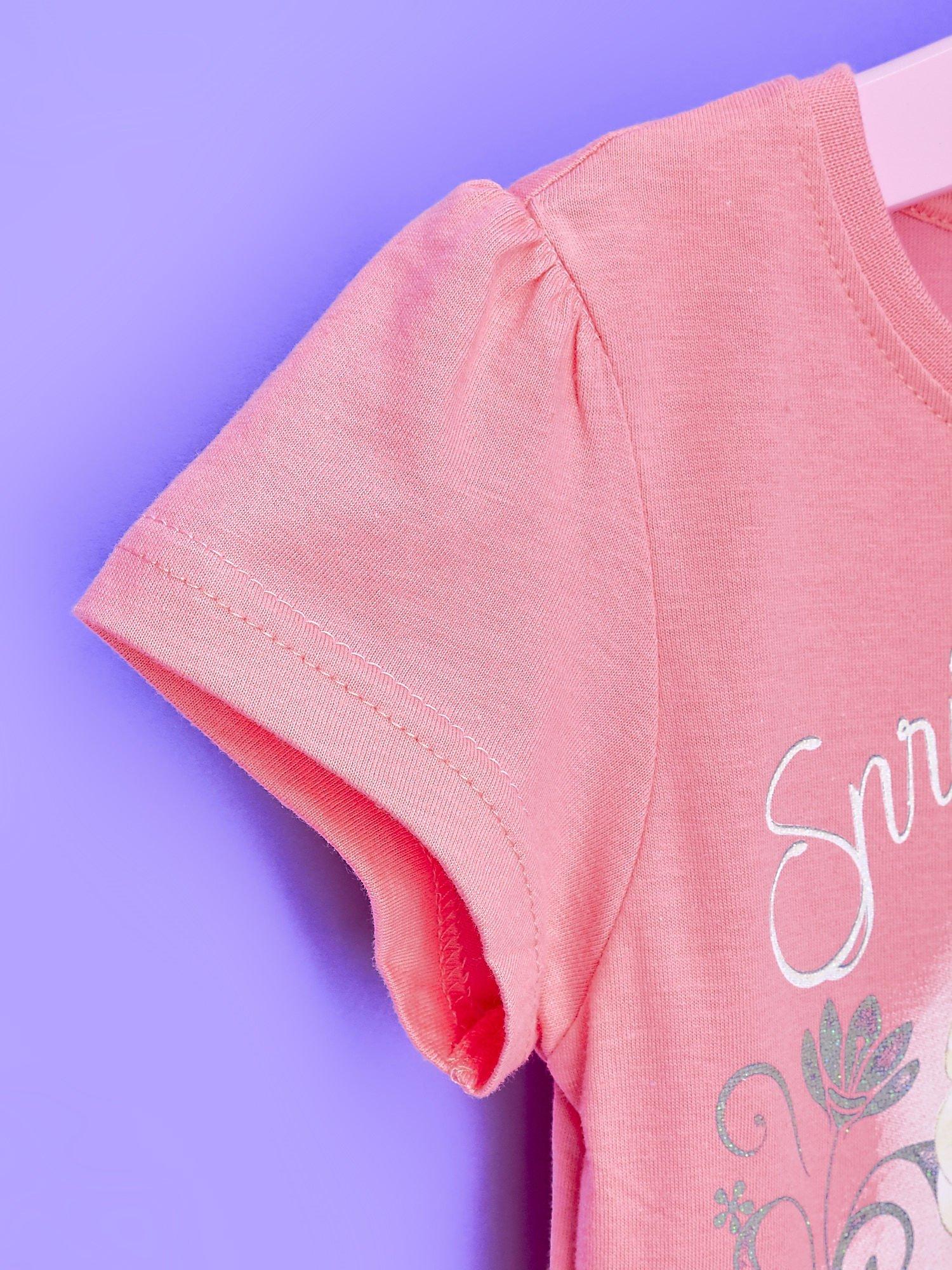 Różowa sukienka dla dziewczynki z tiulowym wykończeniem FROZEN                                  zdj.                                  6
