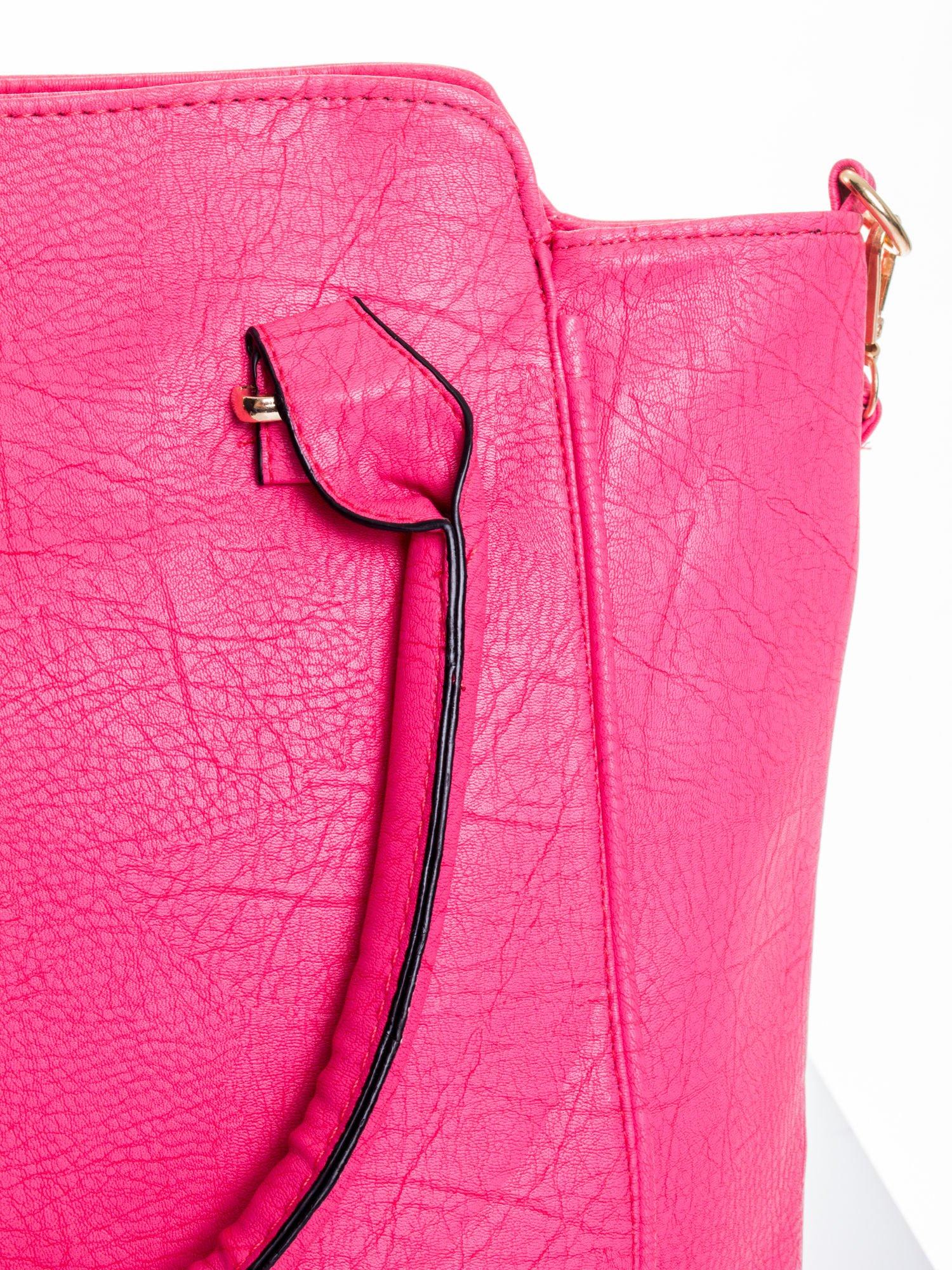 Różowa torba shopper bag                                  zdj.                                  6
