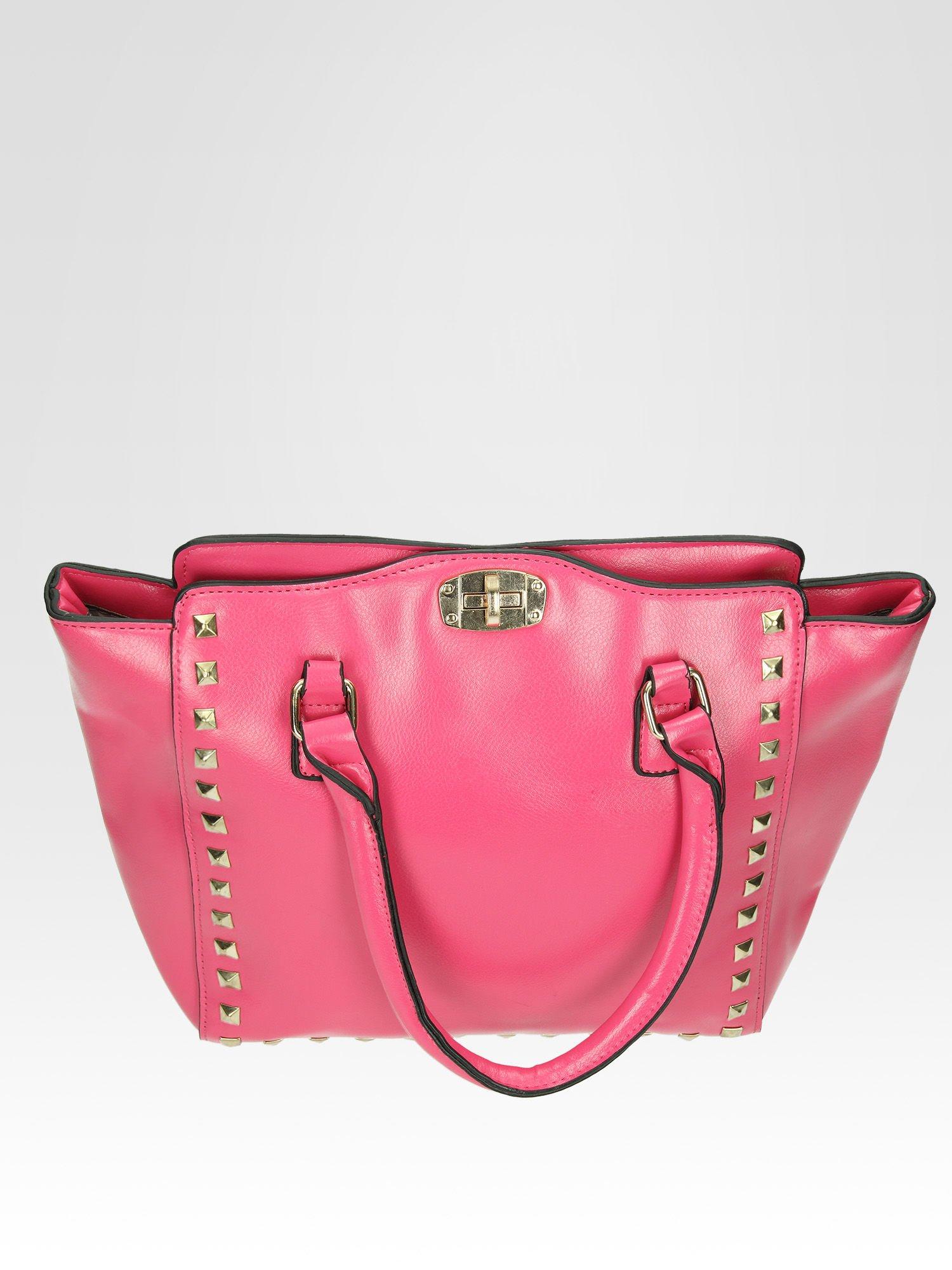 Różowa torebka na ramię z dżetami                                  zdj.                                  8