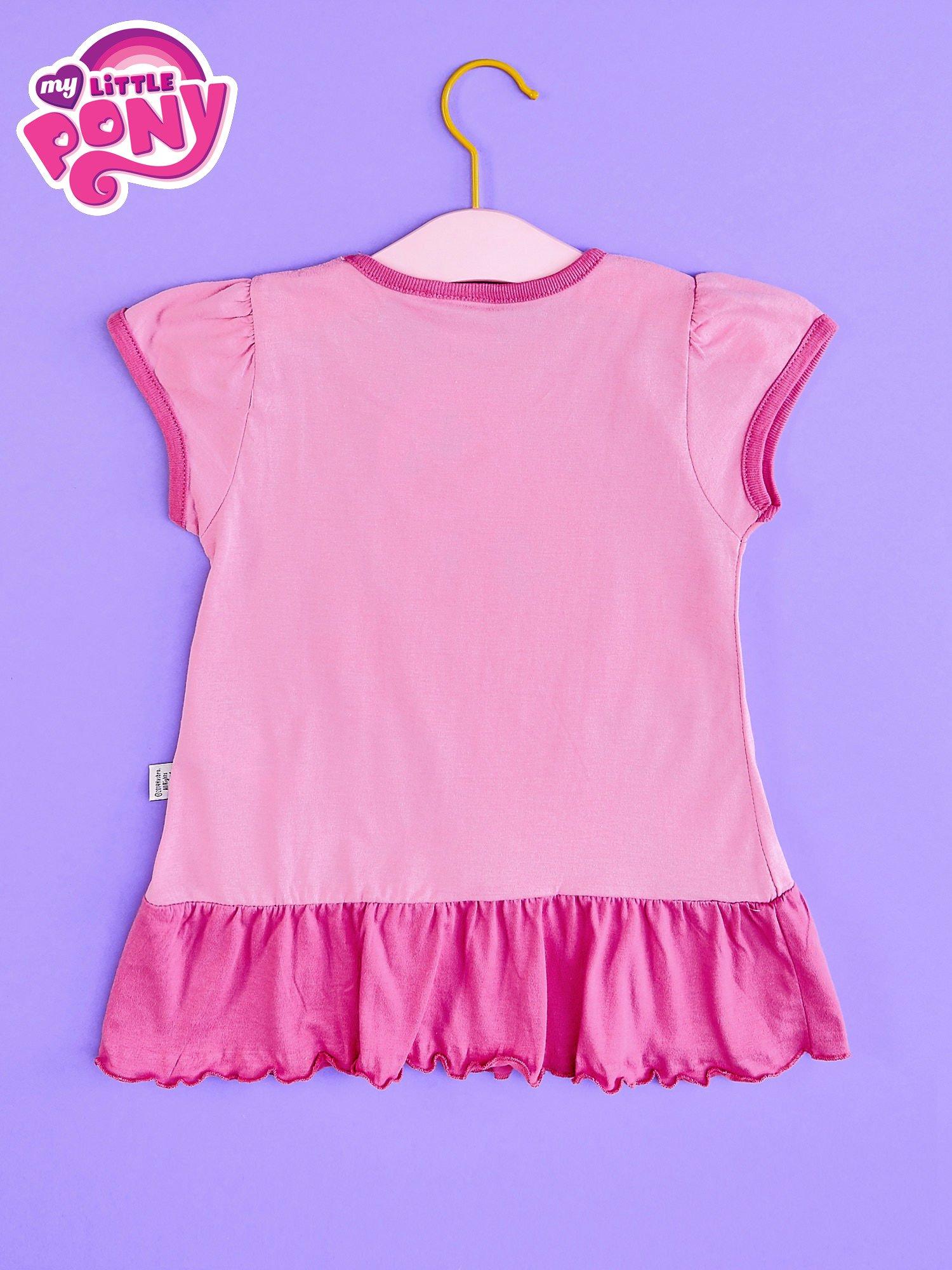 Różowa tunika dla dziewczynki MY LITTLE PONY z kokardką                                  zdj.                                  2