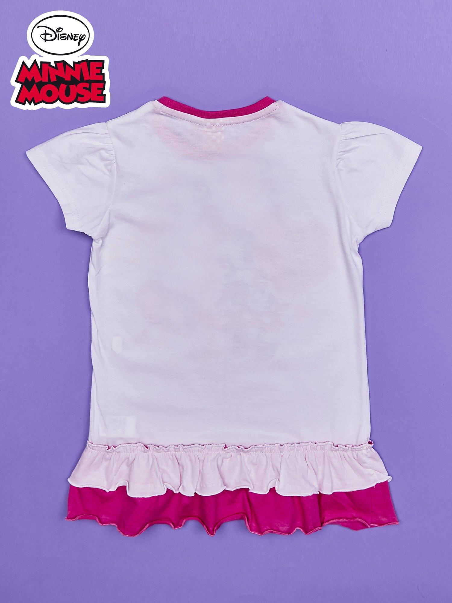 Różowa tunika dla dziewczynki z motywem MINNIE MOUSE                                  zdj.                                  2