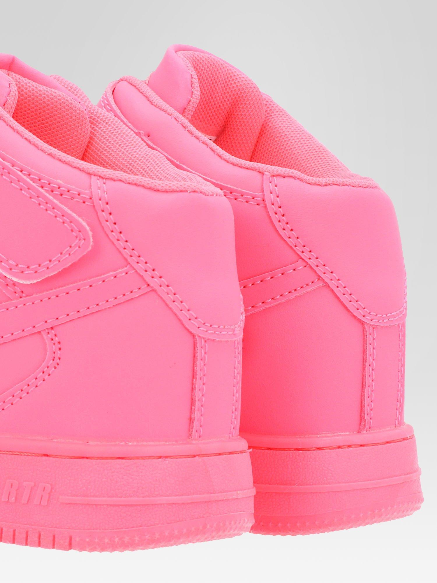 Różowe buty sportowe Heather za kostkę na grubej podeszwie                                  zdj.                                  7