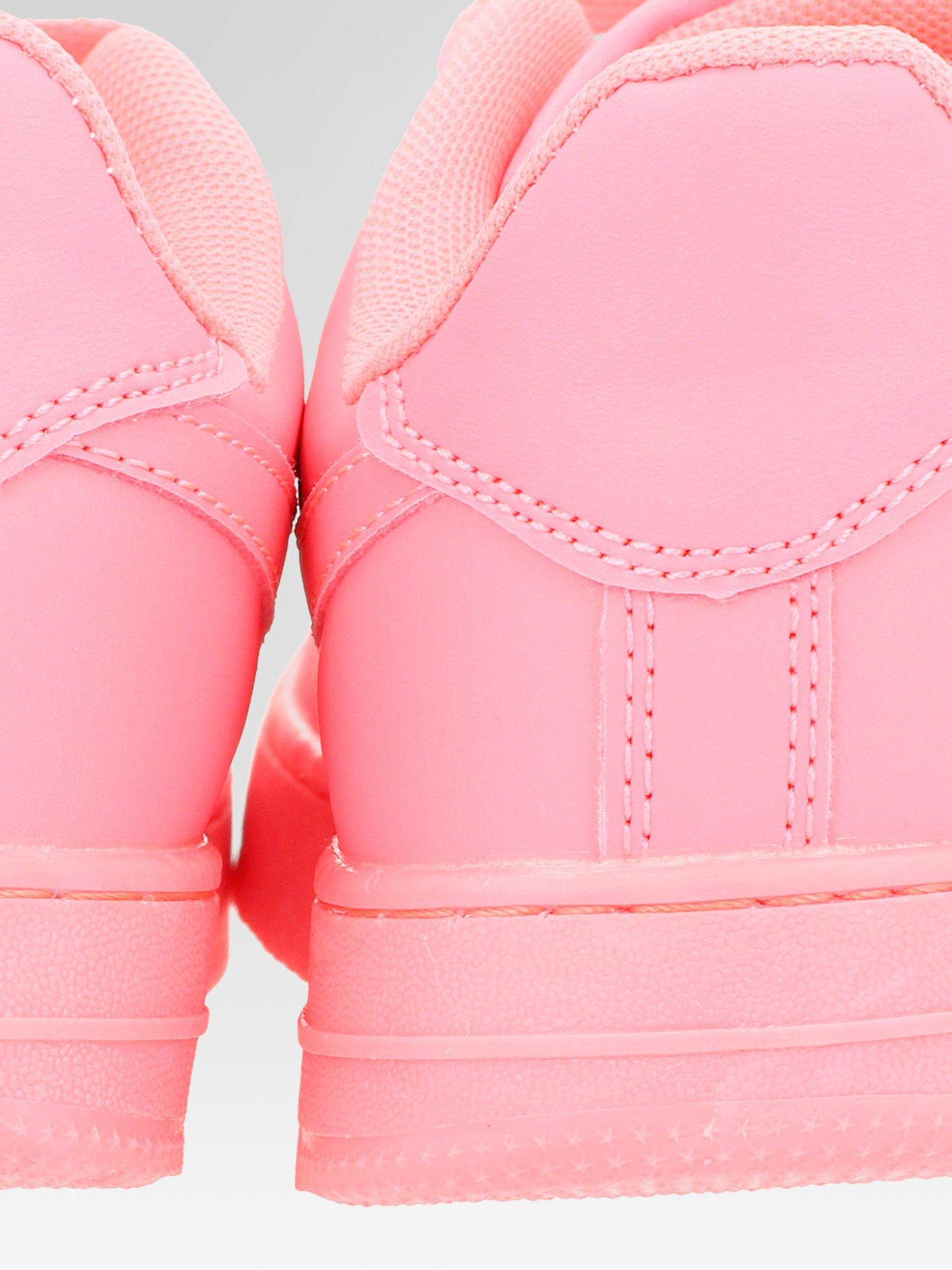 Różowe buty sportowe na grubej podeszwie                                  zdj.                                  7