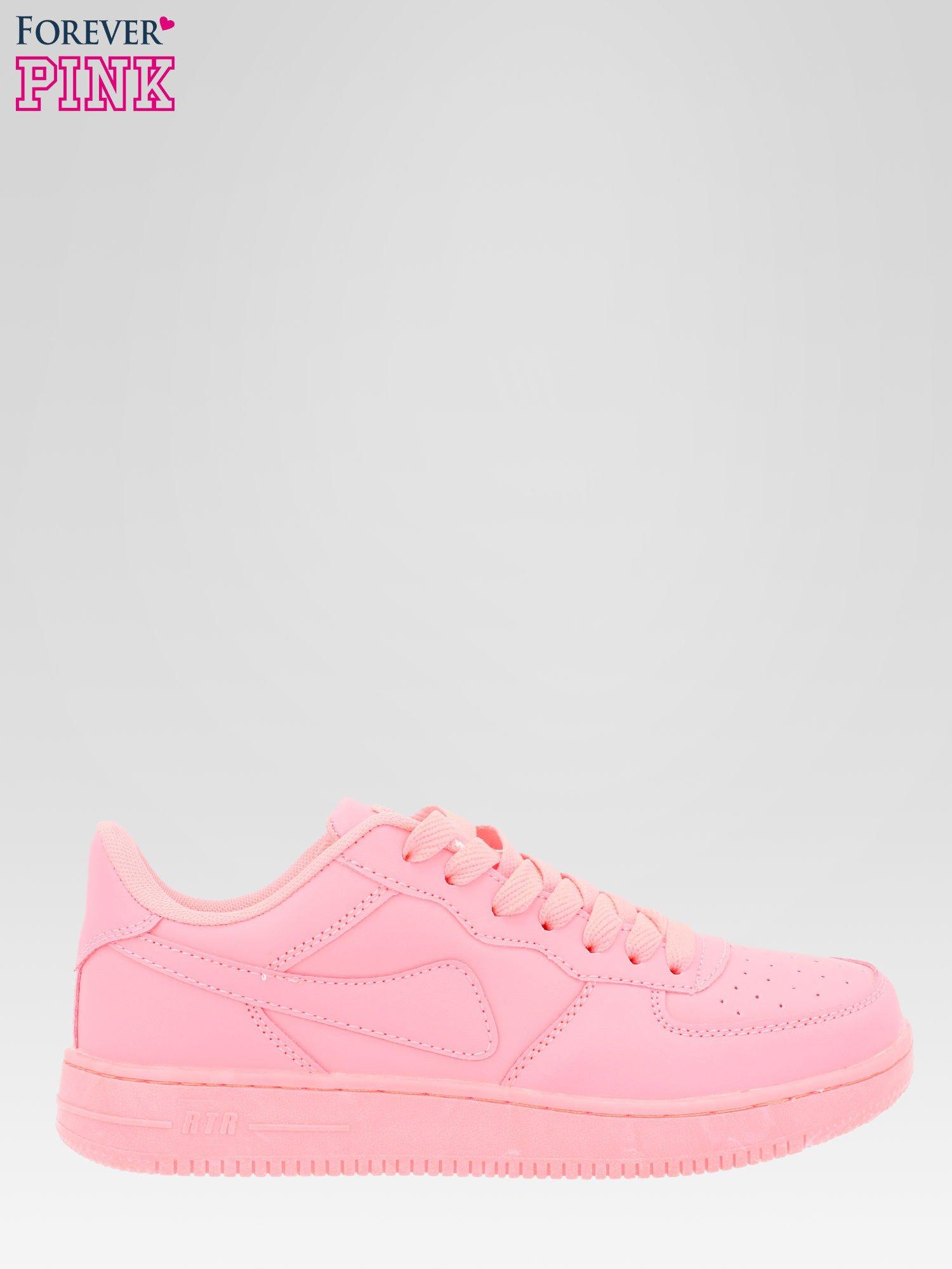 Różowe buty sportowe na grubej podeszwie                                  zdj.                                  1