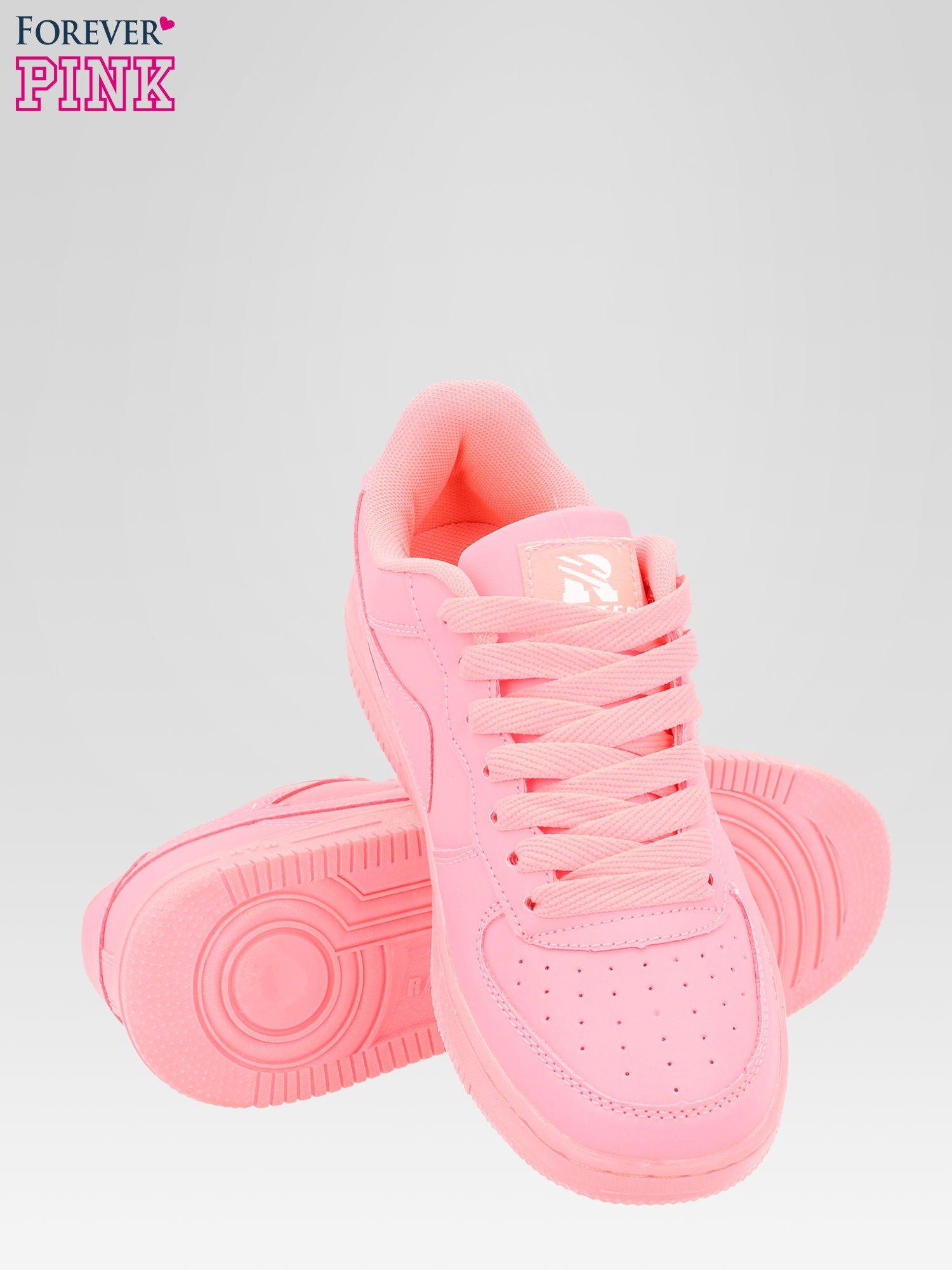 Różowe buty sportowe na grubej podeszwie                                  zdj.                                  4