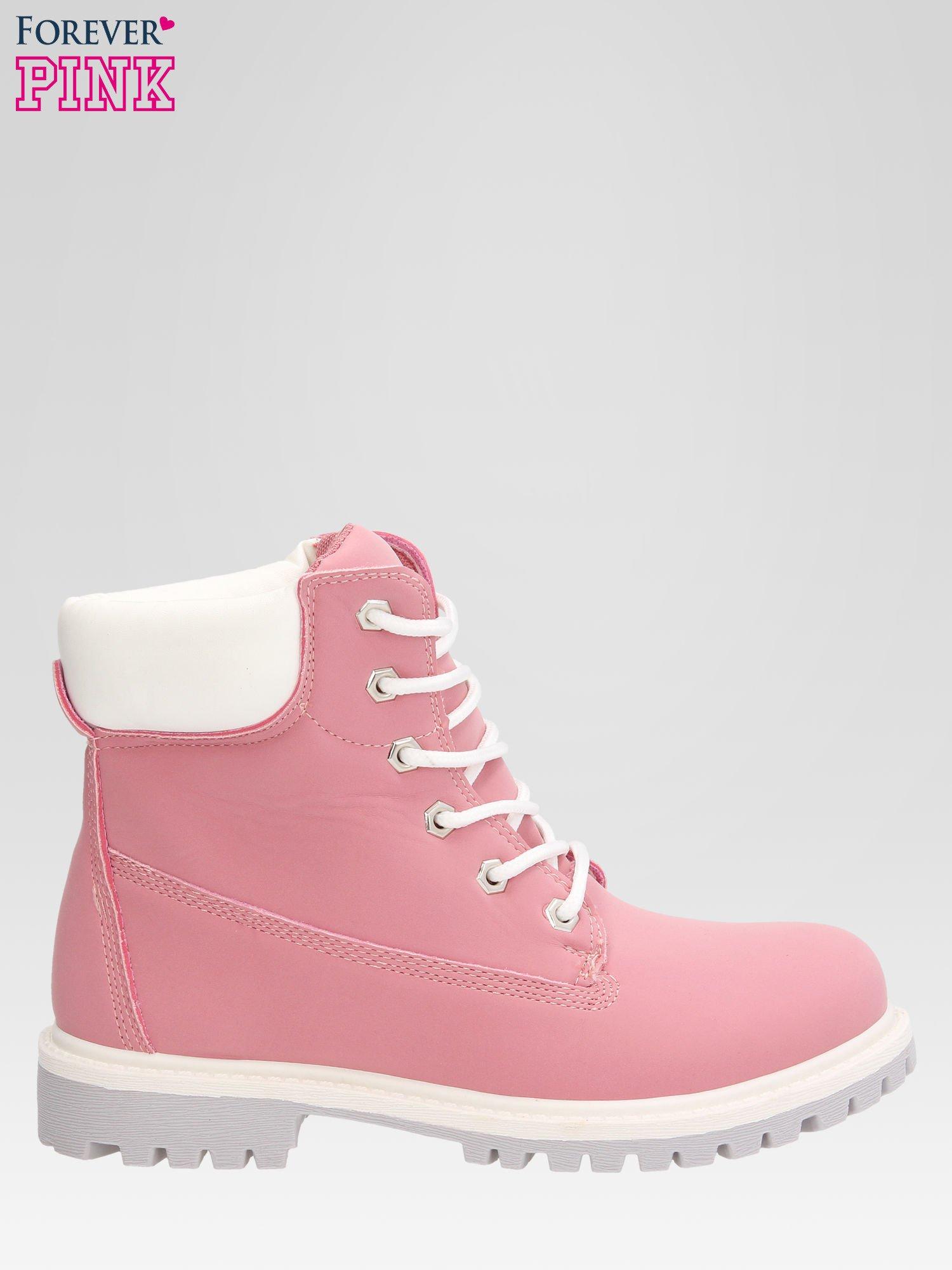 Różowe buty trekkingowe damskie traperki Shimmy                                  zdj.                                  1
