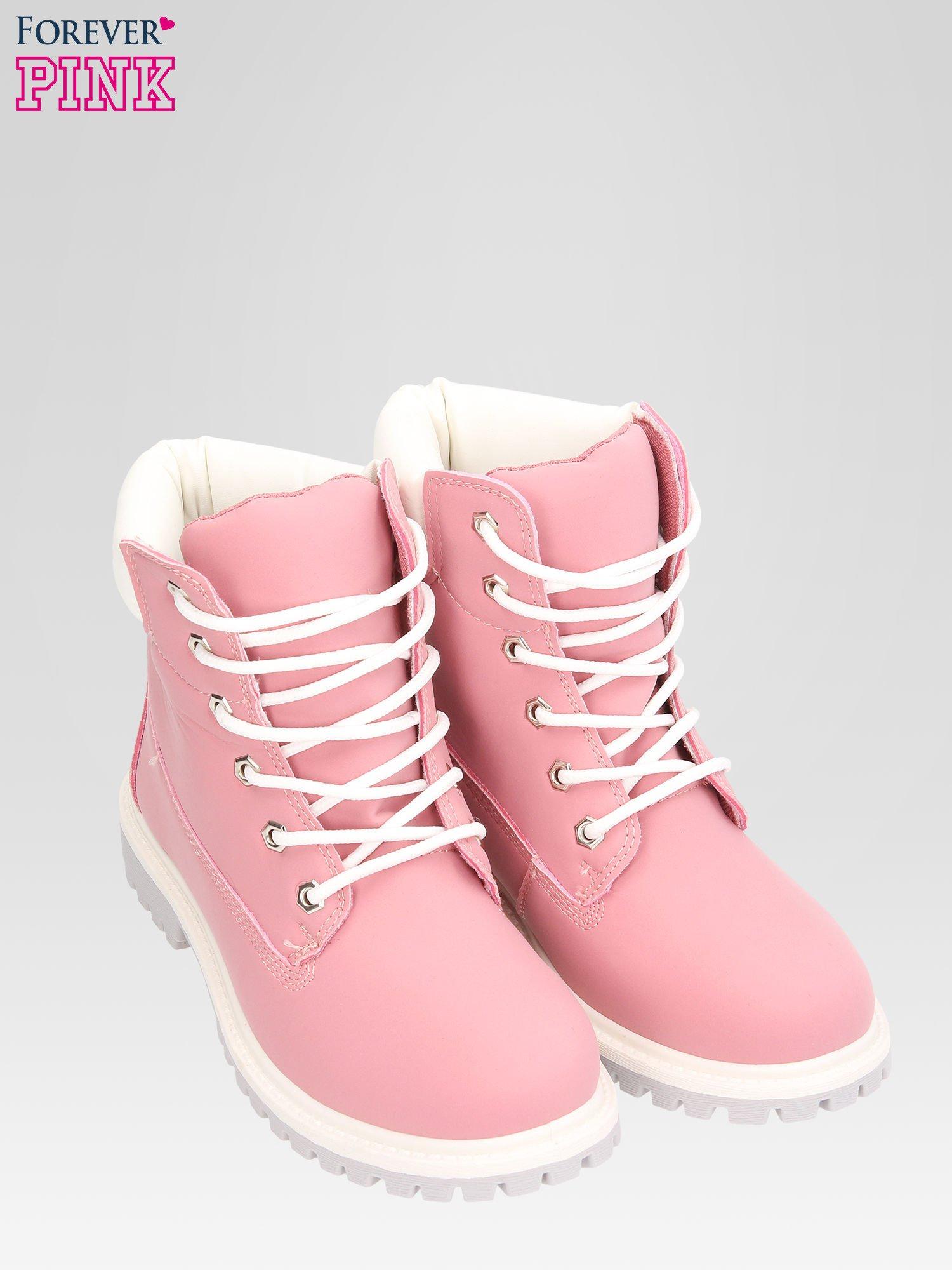 Różowe buty trekkingowe damskie traperki Shimmy                                  zdj.                                  6