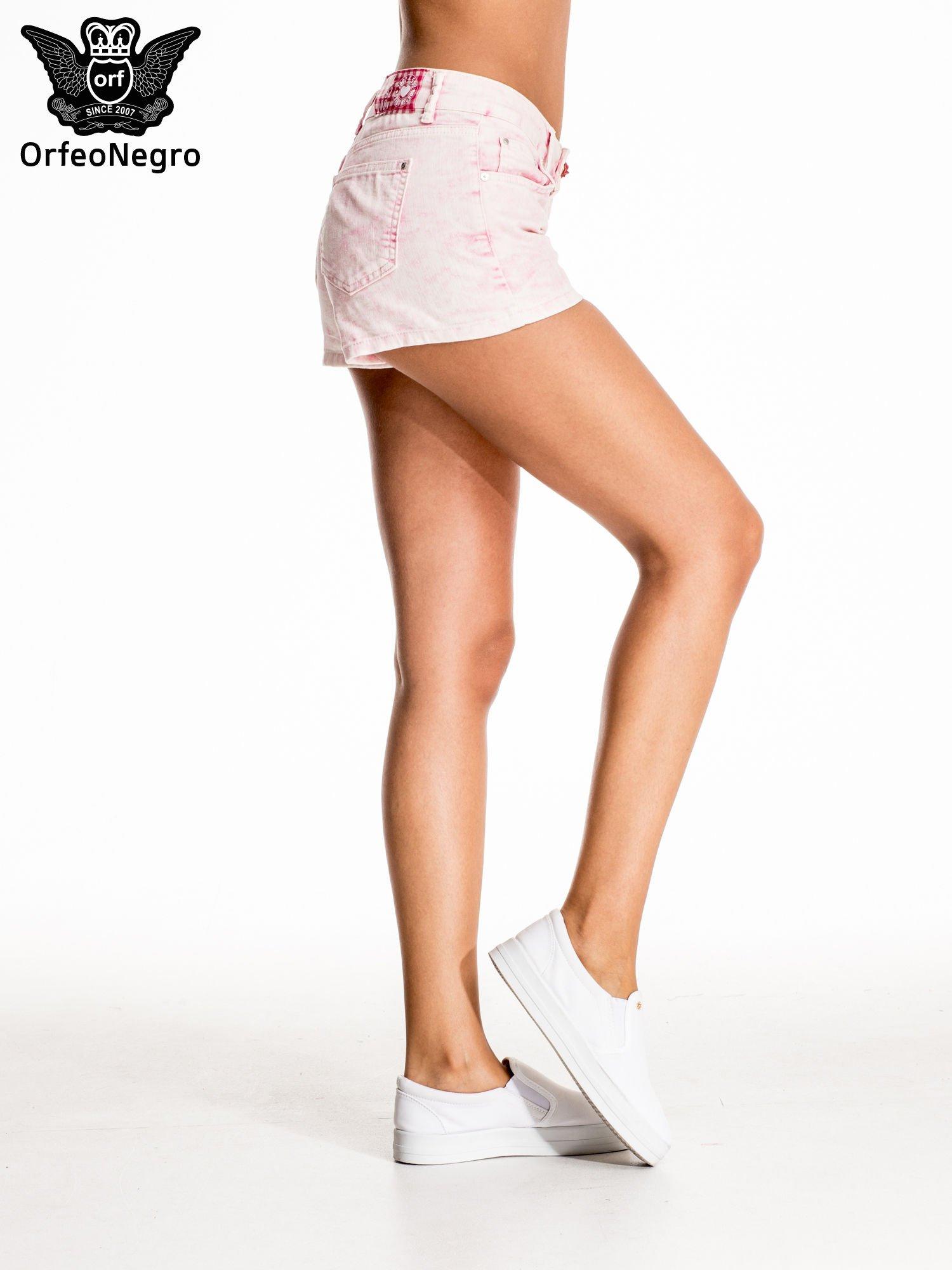Różowe jeansowe szorty                                  zdj.                                  5