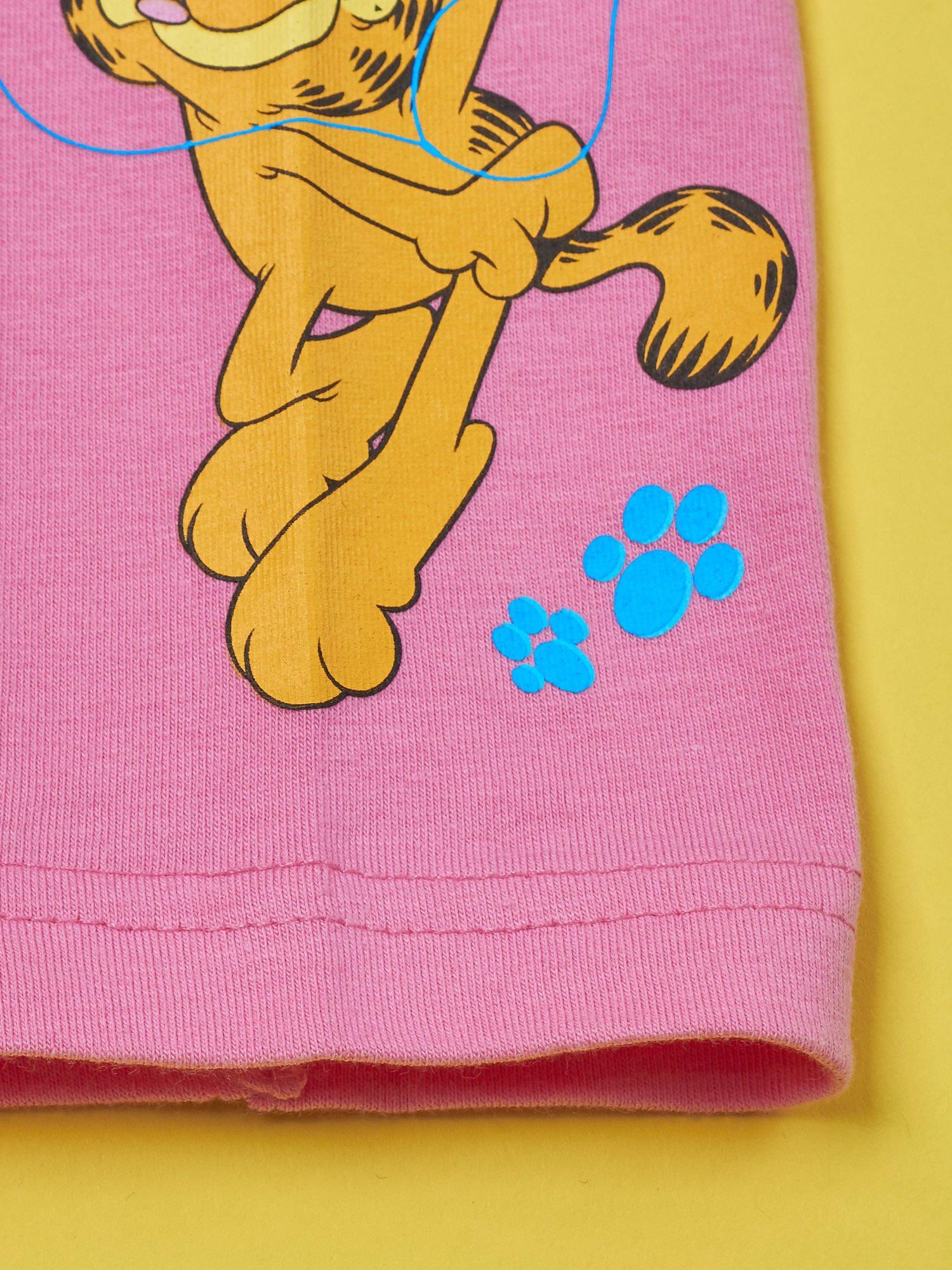 Różowe legginsy dla dziewczynki GARFIELD                                  zdj.                                  3