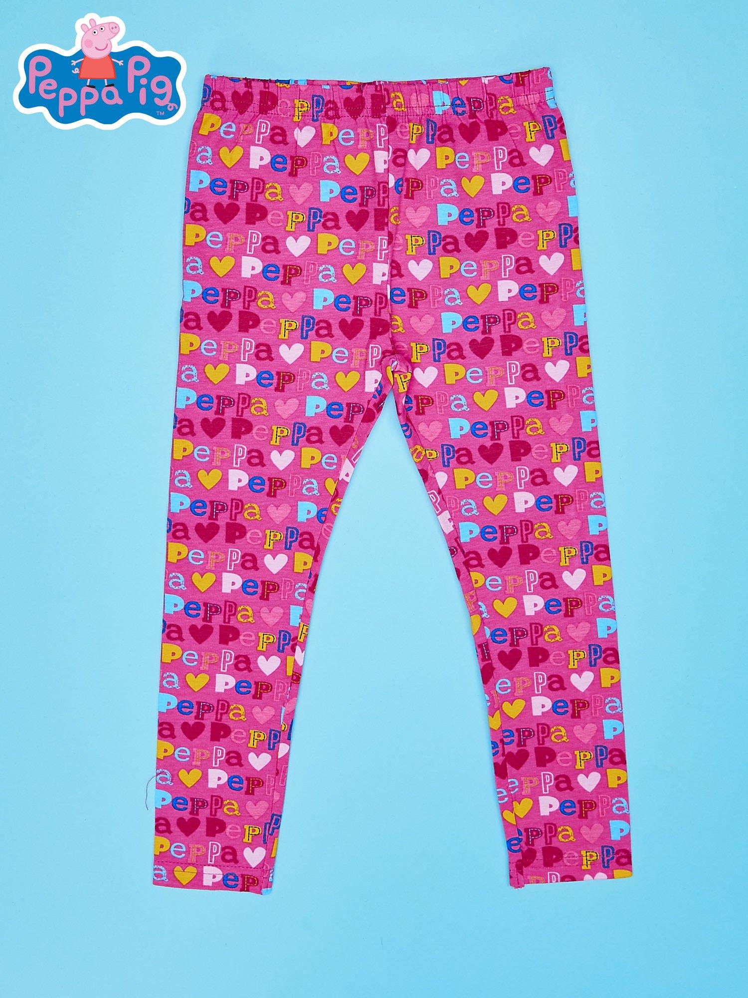 Różowe legginsy dla dziewczynki ŚWINKA PEPPA                                  zdj.                                  1