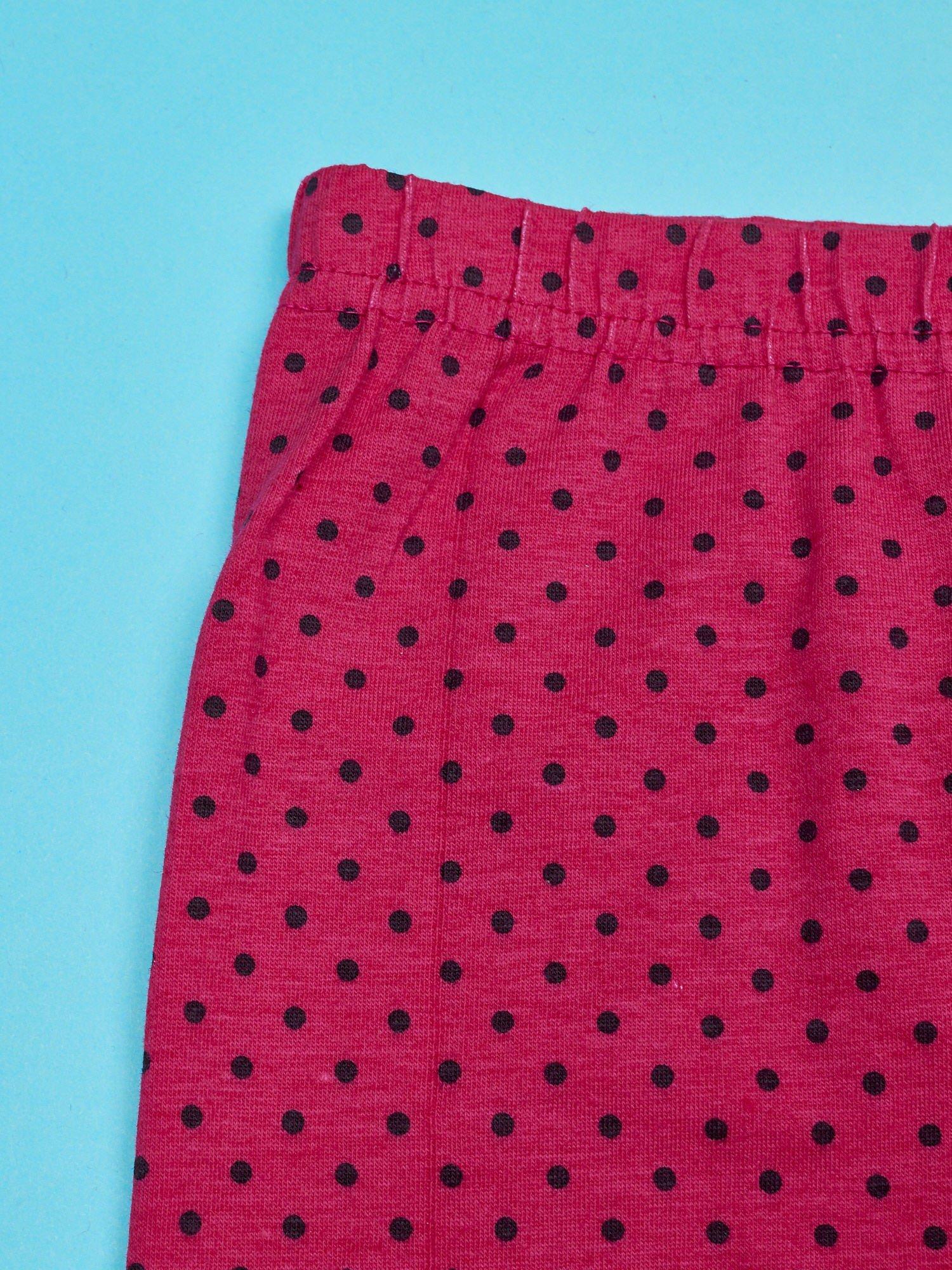Różowe legginsy w groszki dla dziewczynki DAISY                                  zdj.                                  3