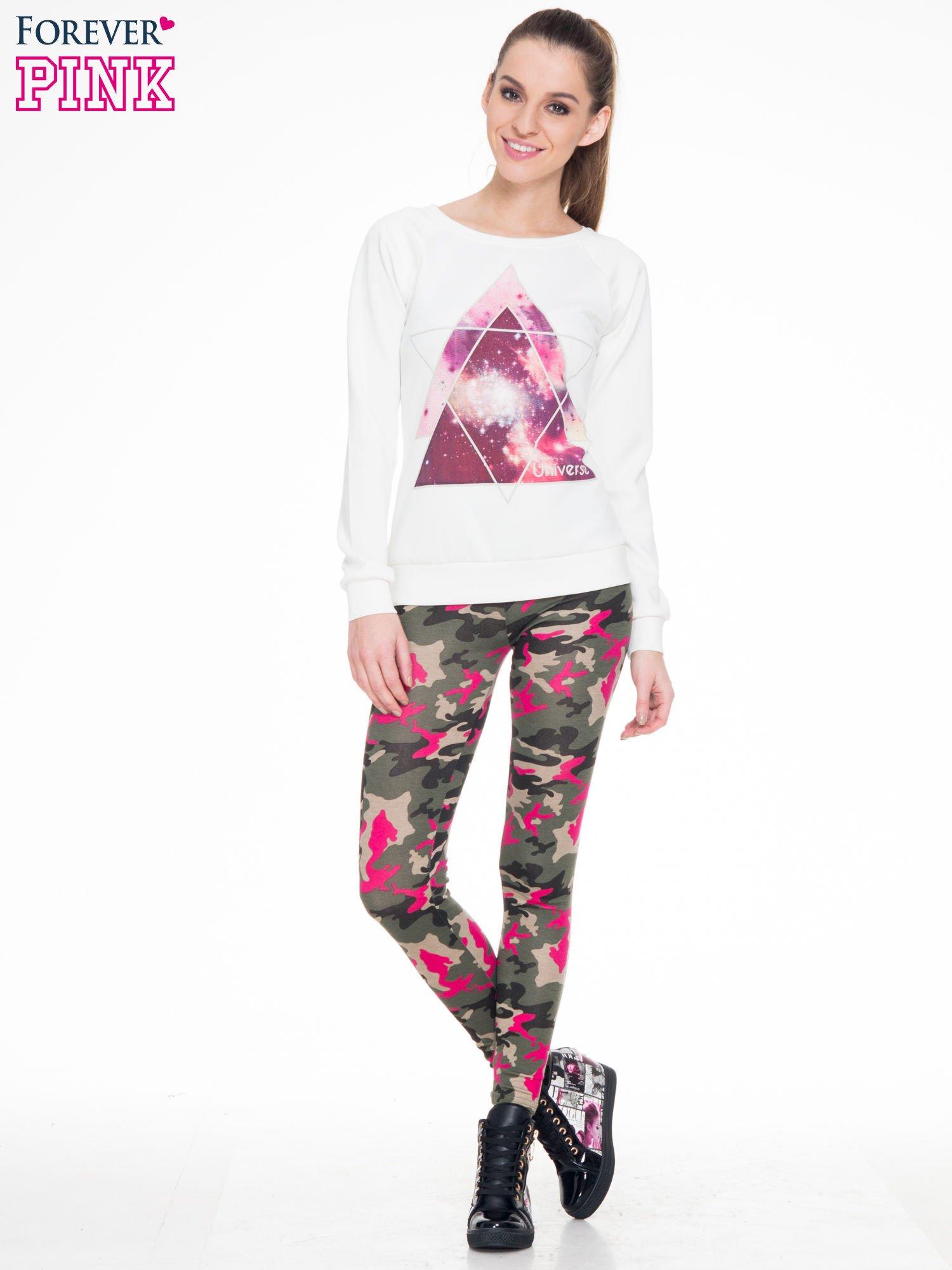 Różowe legginsy we wzór moro                                  zdj.                                  2