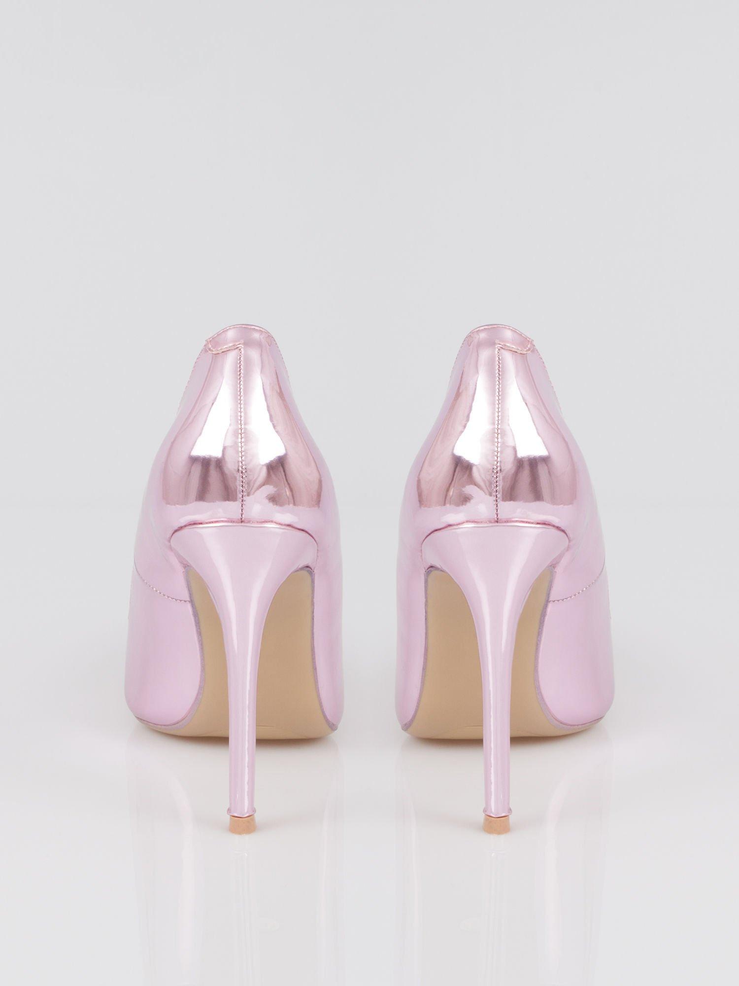Różowe metaliczne szpilki w szpic Pinky                                  zdj.                                  3