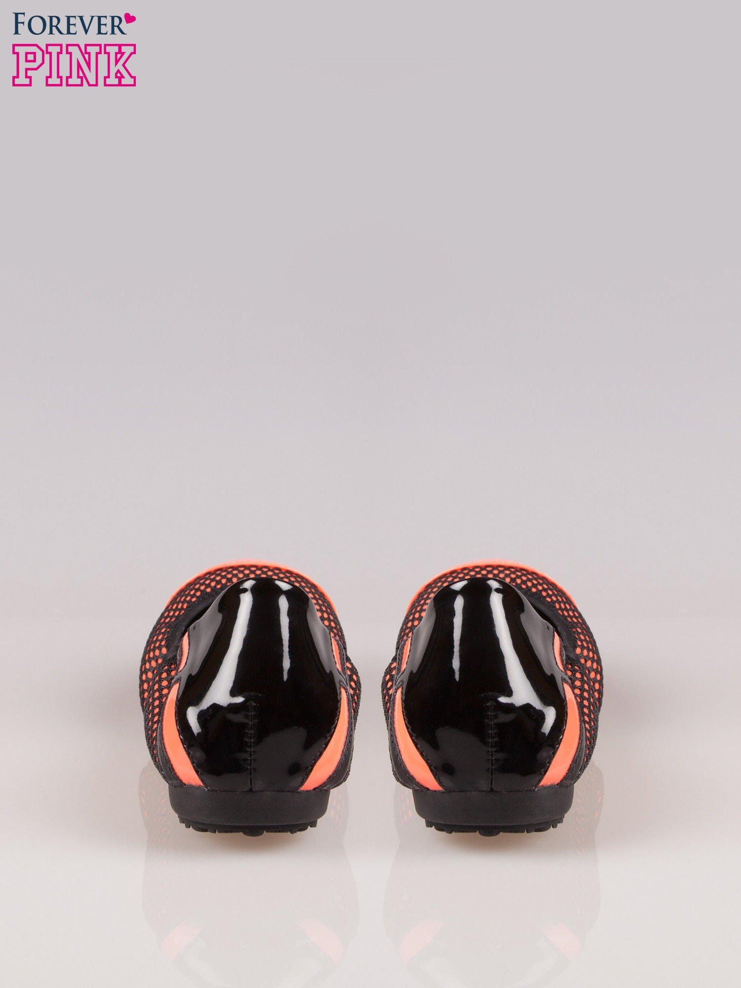 Różowe siateczkowe baleriny faux leather Selena na gumkę                                  zdj.                                  3