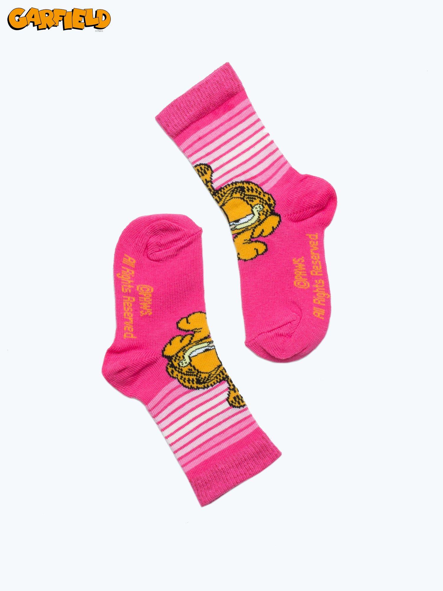 Różowe skarpetki dla dziewczynki GARFIELD                                  zdj.                                  2