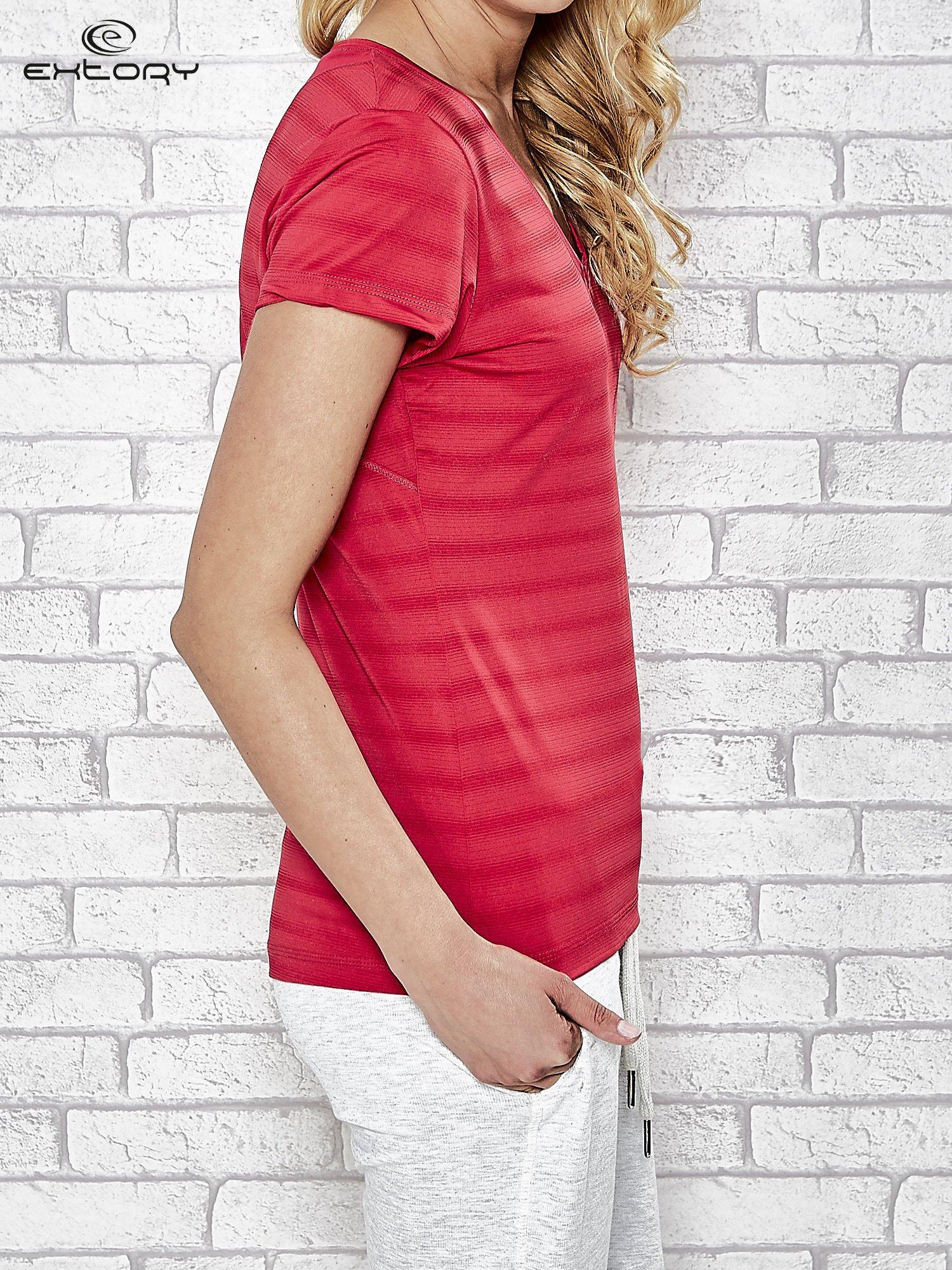 Różowy damski t-shirt sportowy PLUS SIZE                                  zdj.                                  3