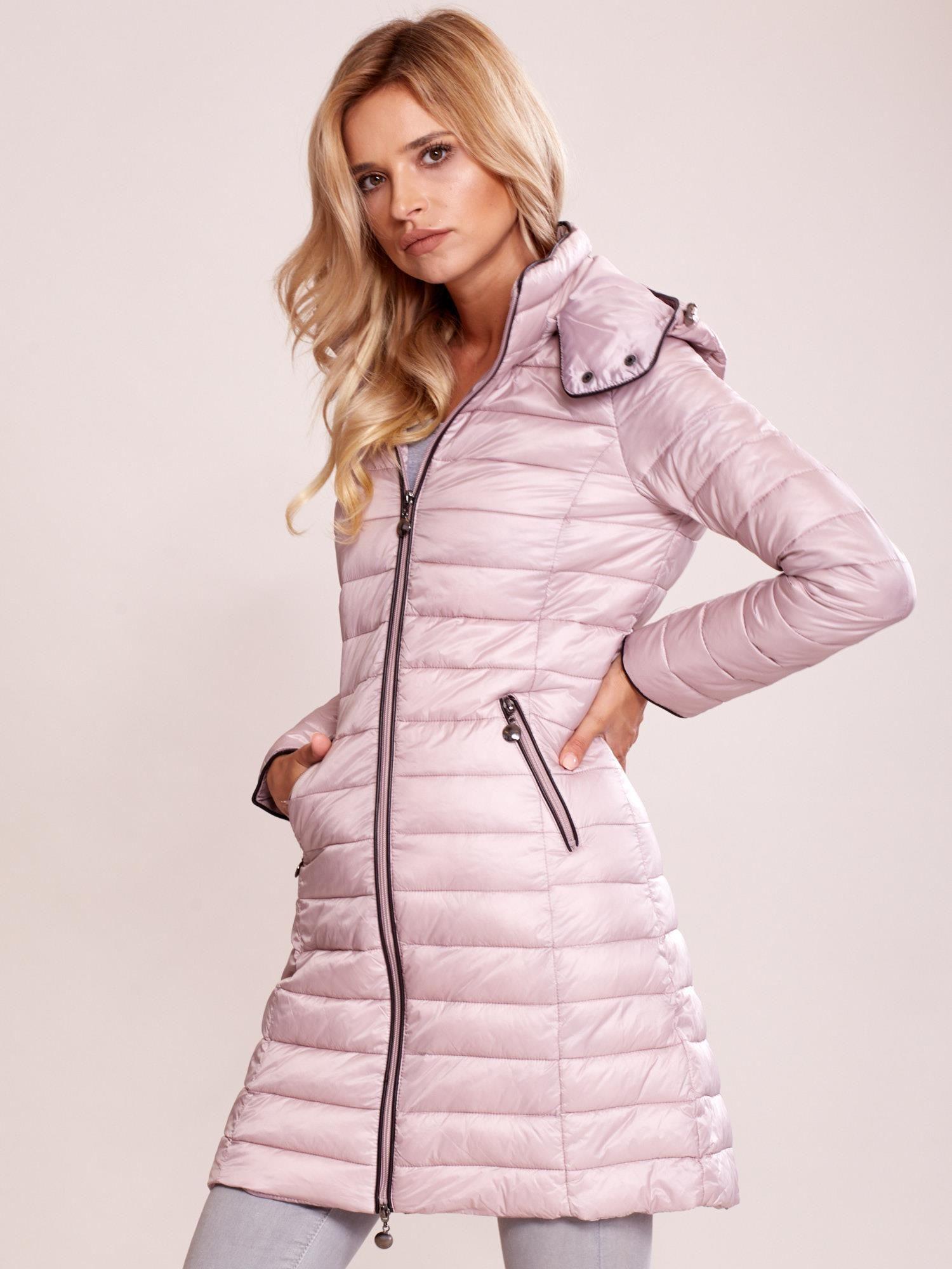 5829b25f6d8e7d Khaki pikowany płaszcz z odpinanym kapturem - Kurtka przejściowa - sklep  eButik.pl
