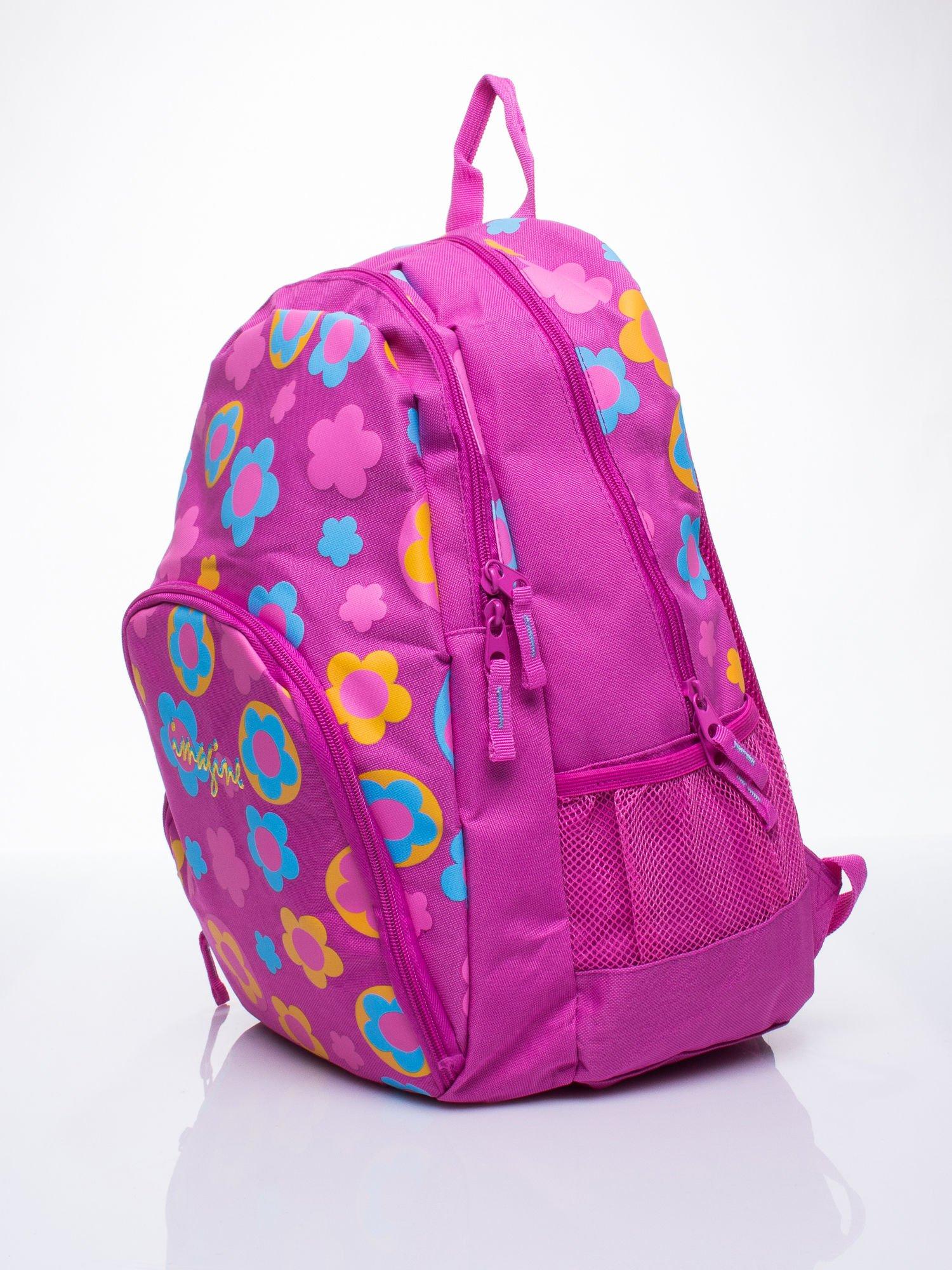 Różowy plecak dla dziewczynki DISNEY w kwiatki                                  zdj.                                  2