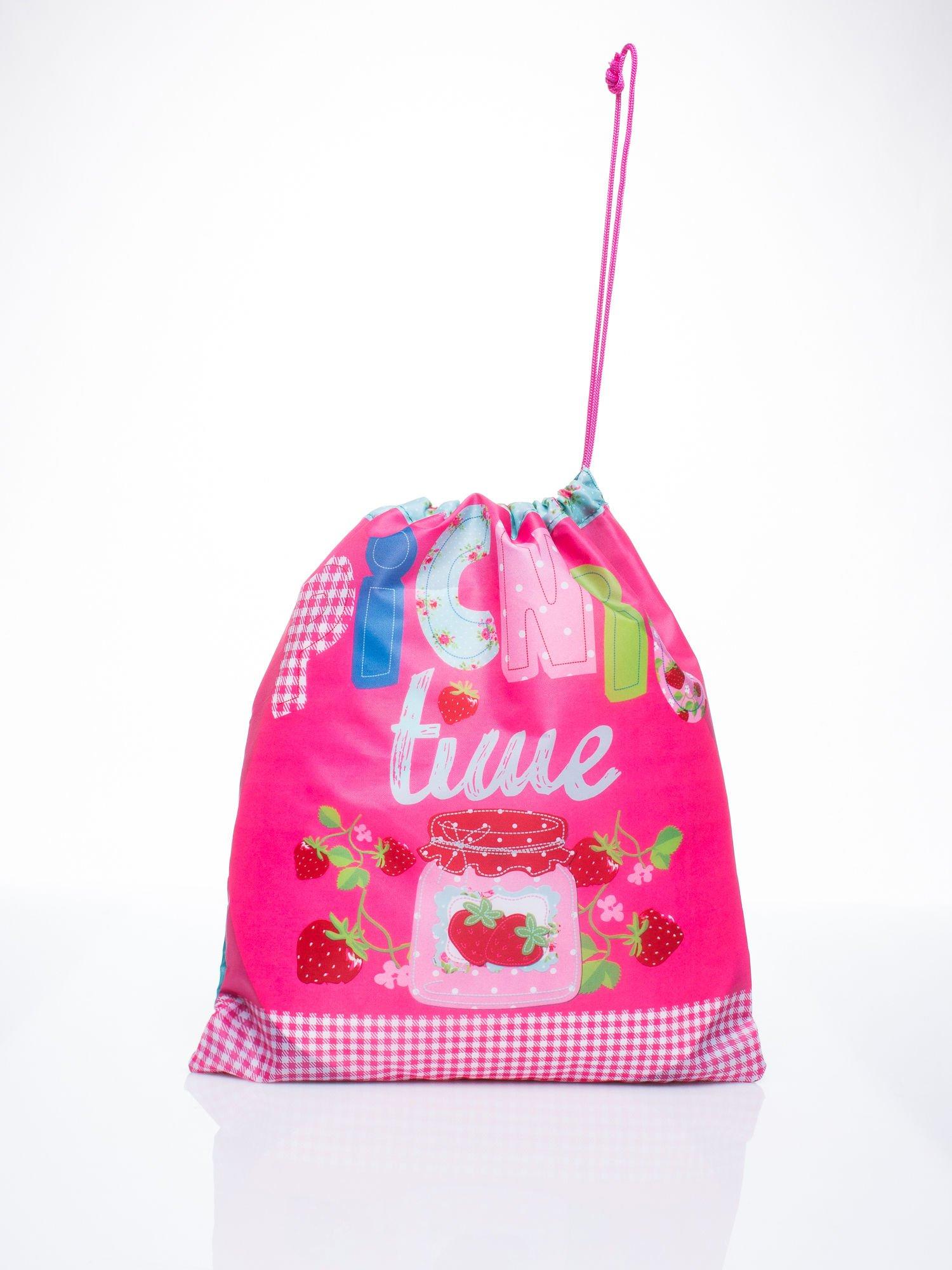 Różowy plecak worek DISNEY na piknik                                  zdj.                                  1