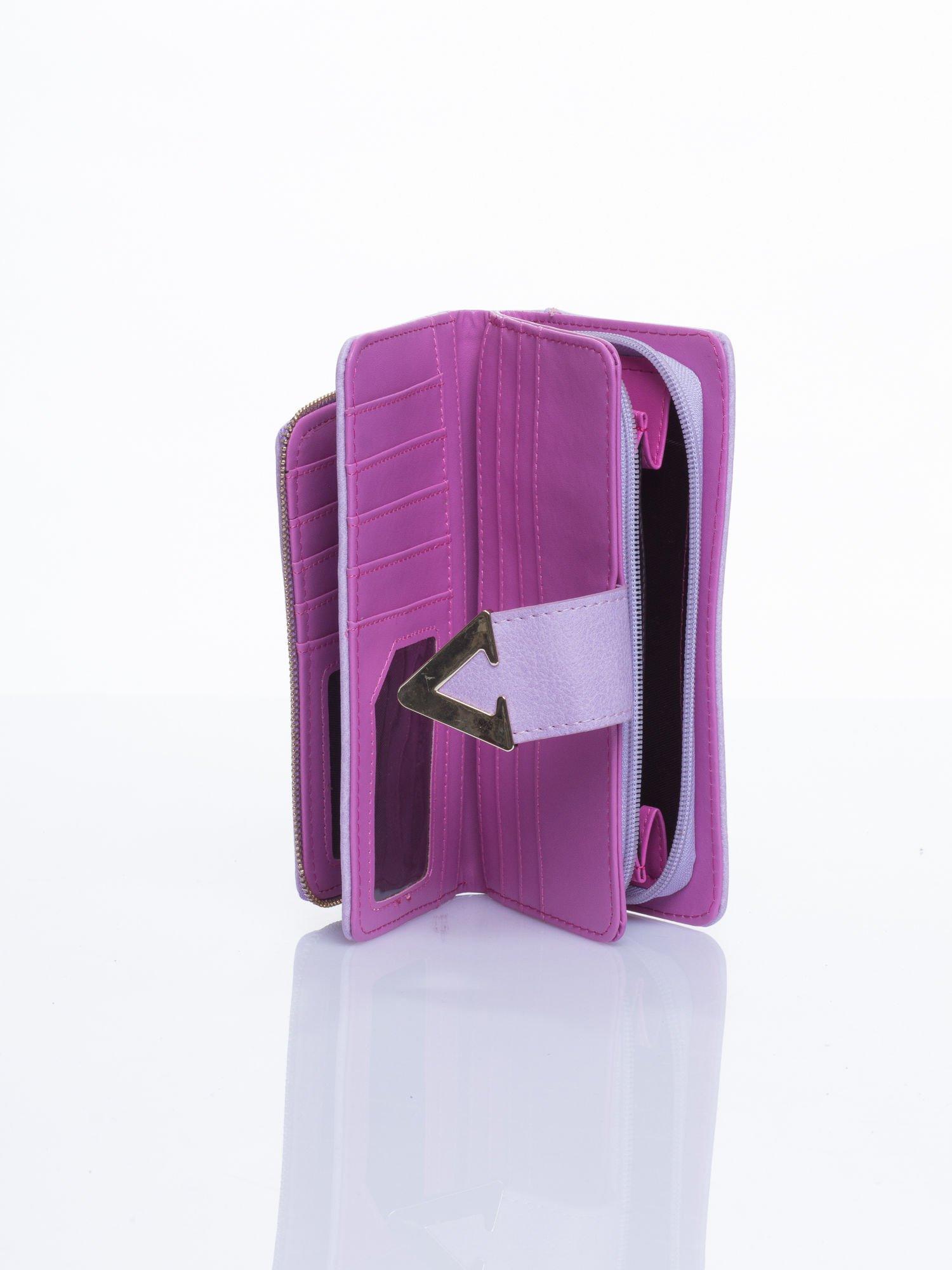 Różowy portfel ze złotym detalem V                                  zdj.                                  3