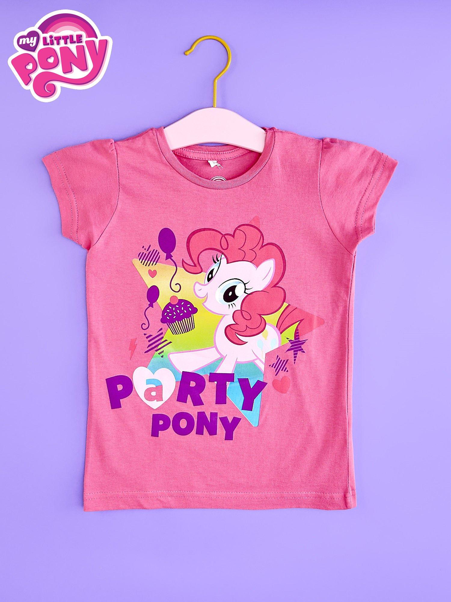 Różowy t-shirt dla dziewczynki nadruk MY LITTLE PONY                                  zdj.                                  1