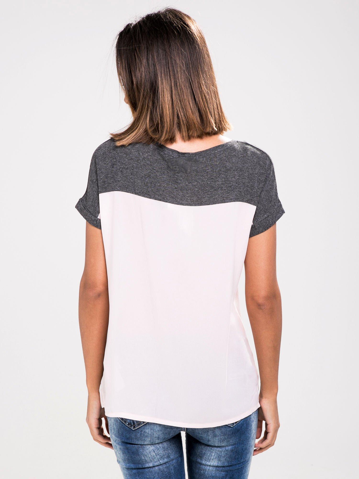 STRADIVARIUS Różowy t-shirt z nadrukiem UPPER EAST SIDE                                  zdj.                                  2