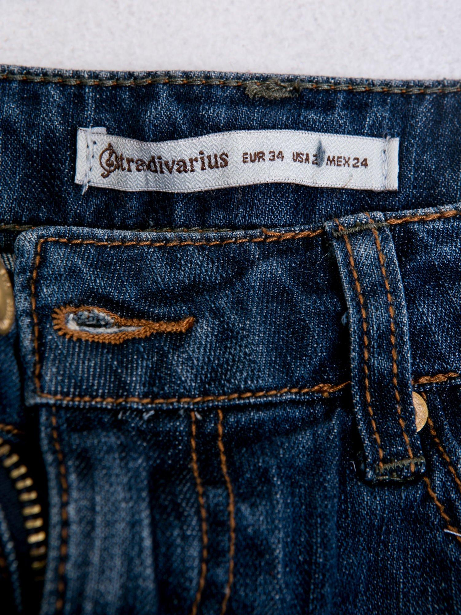 STRADIVARIUS Spódnica mini z denimu z naszywkami                                  zdj.                                  3