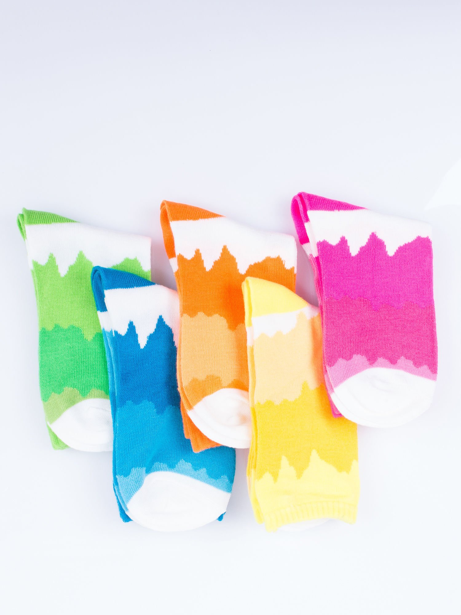 Skarpetki damskie abstrakcyjne wzory mix 5 par.                                  zdj.                                  12