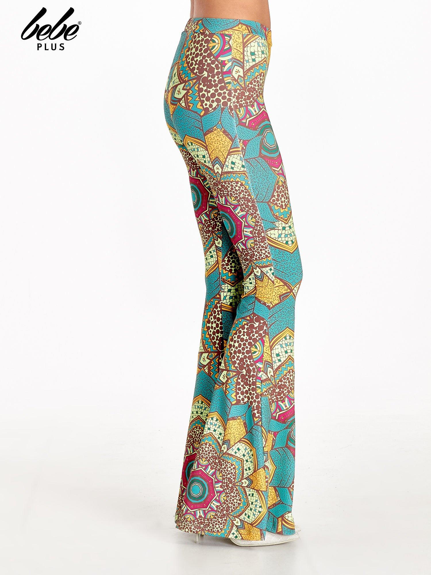 Spodnie dzwony we wzór kwiatowy                                  zdj.                                  3