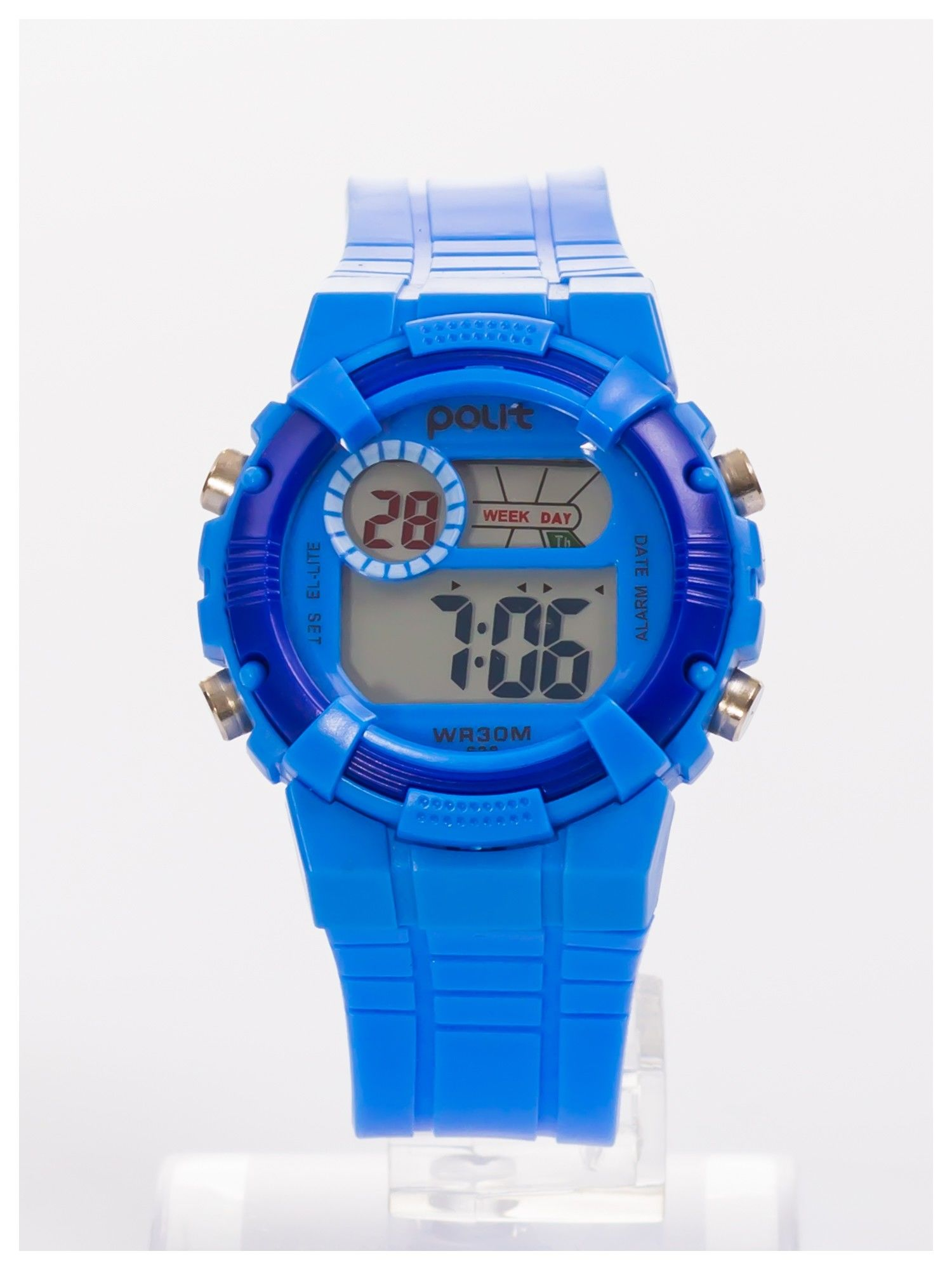 Sportowy zegarek  wielofunkcyjny. Łatwy w obsłudze. Wodoodporny.                                   zdj.                                  1