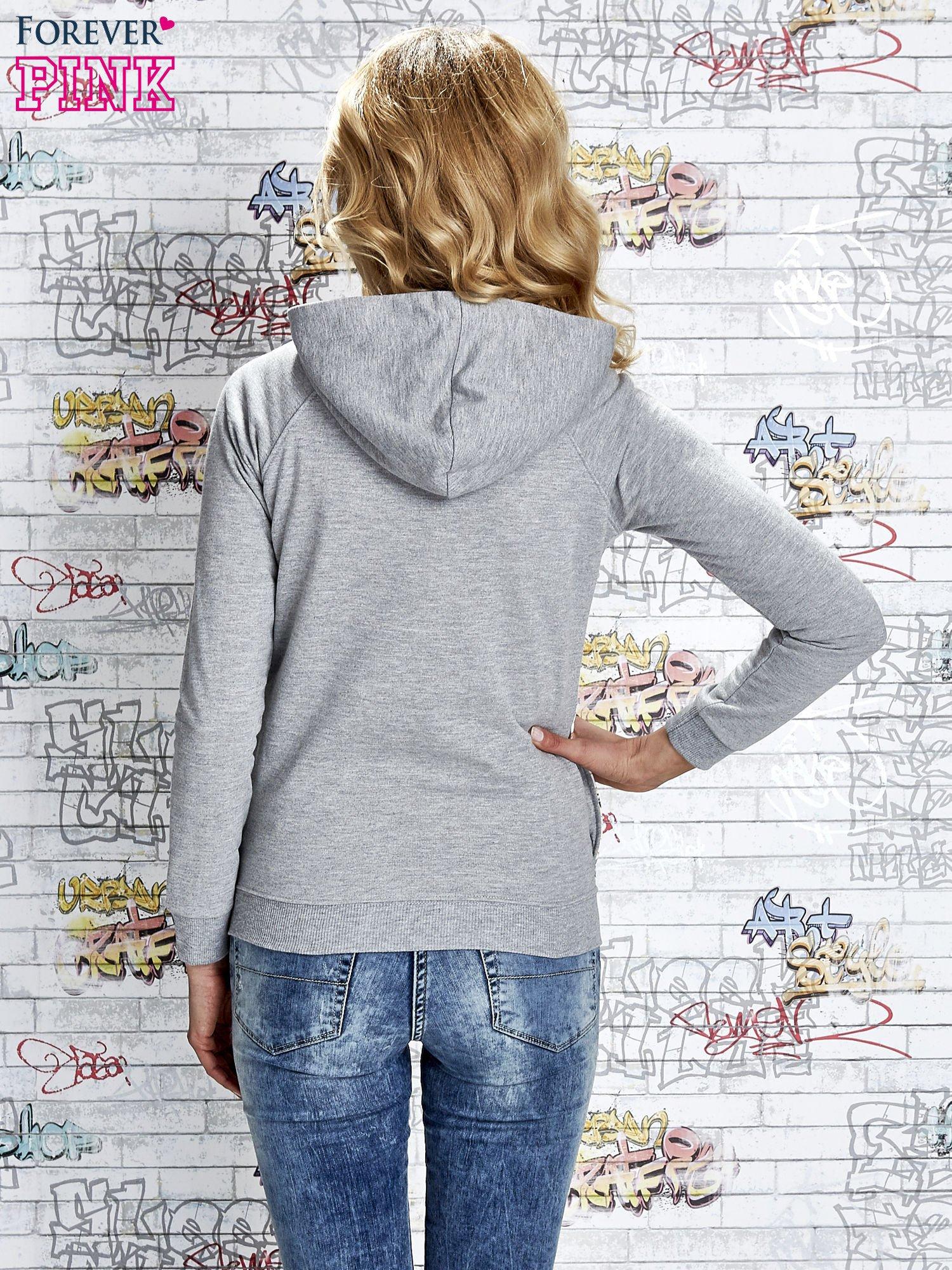 Szara bluza z kapturem i napisem HONOUR                                  zdj.                                  6