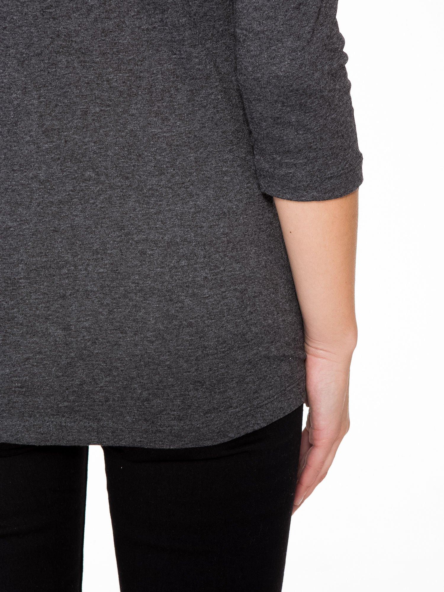 Szara bluzka z portretem Audrey Hepburn                                  zdj.                                  10