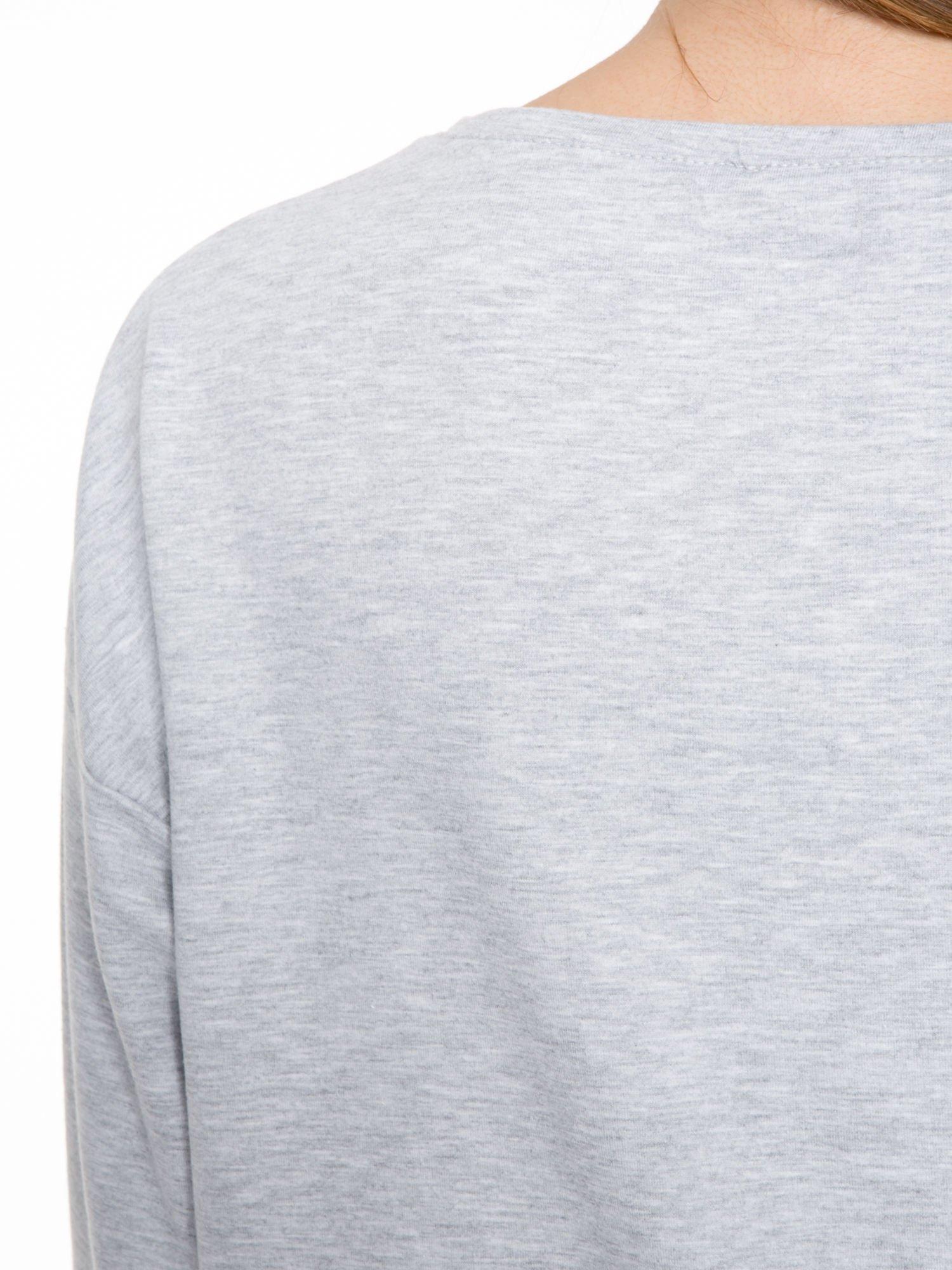 Szara dresowa bluza z nadrukiem zwierzaków                                  zdj.                                  6