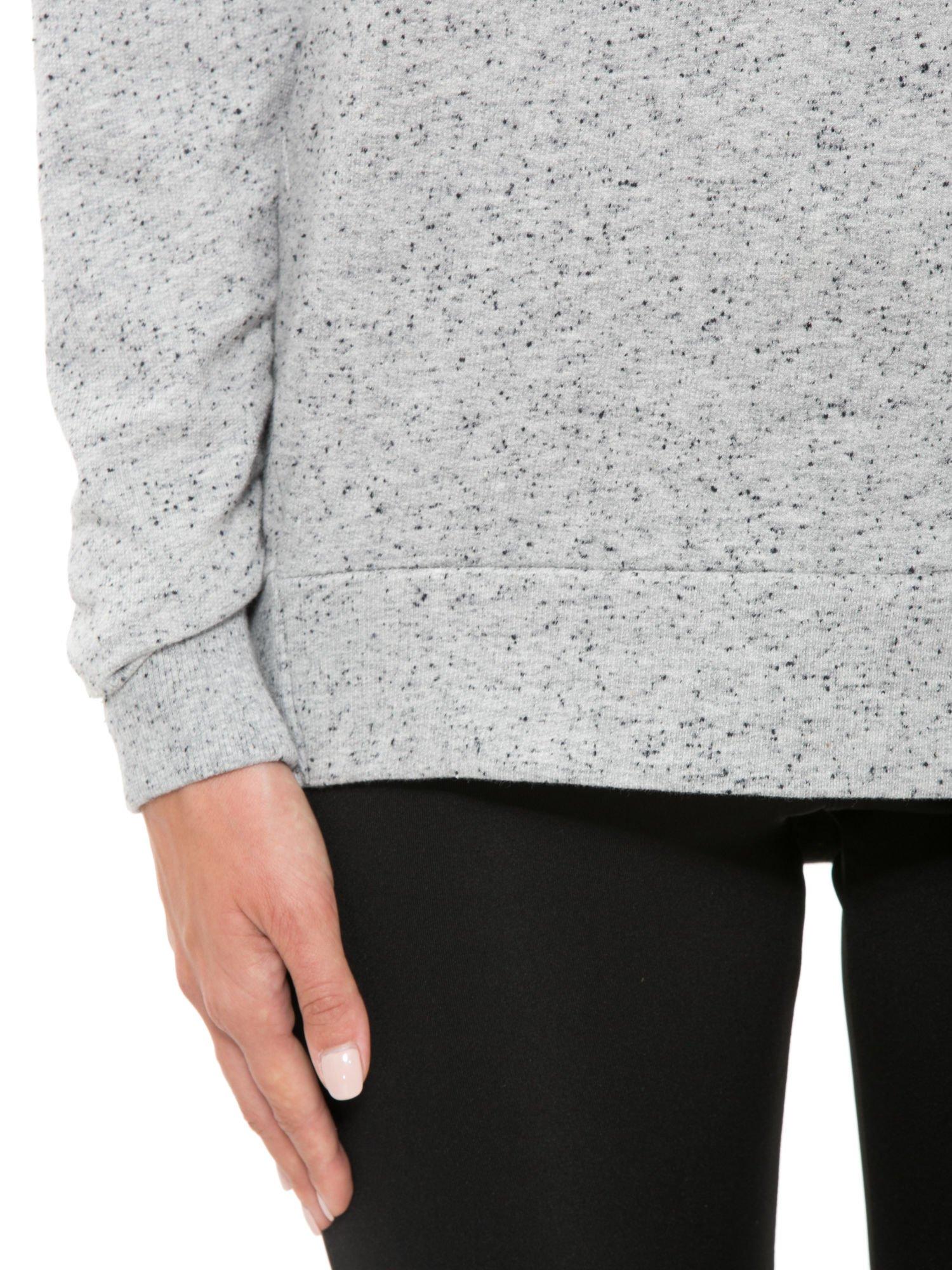 Szara melanżowa bluza dresowa z nietoperzowymi rękawami                                  zdj.                                  6